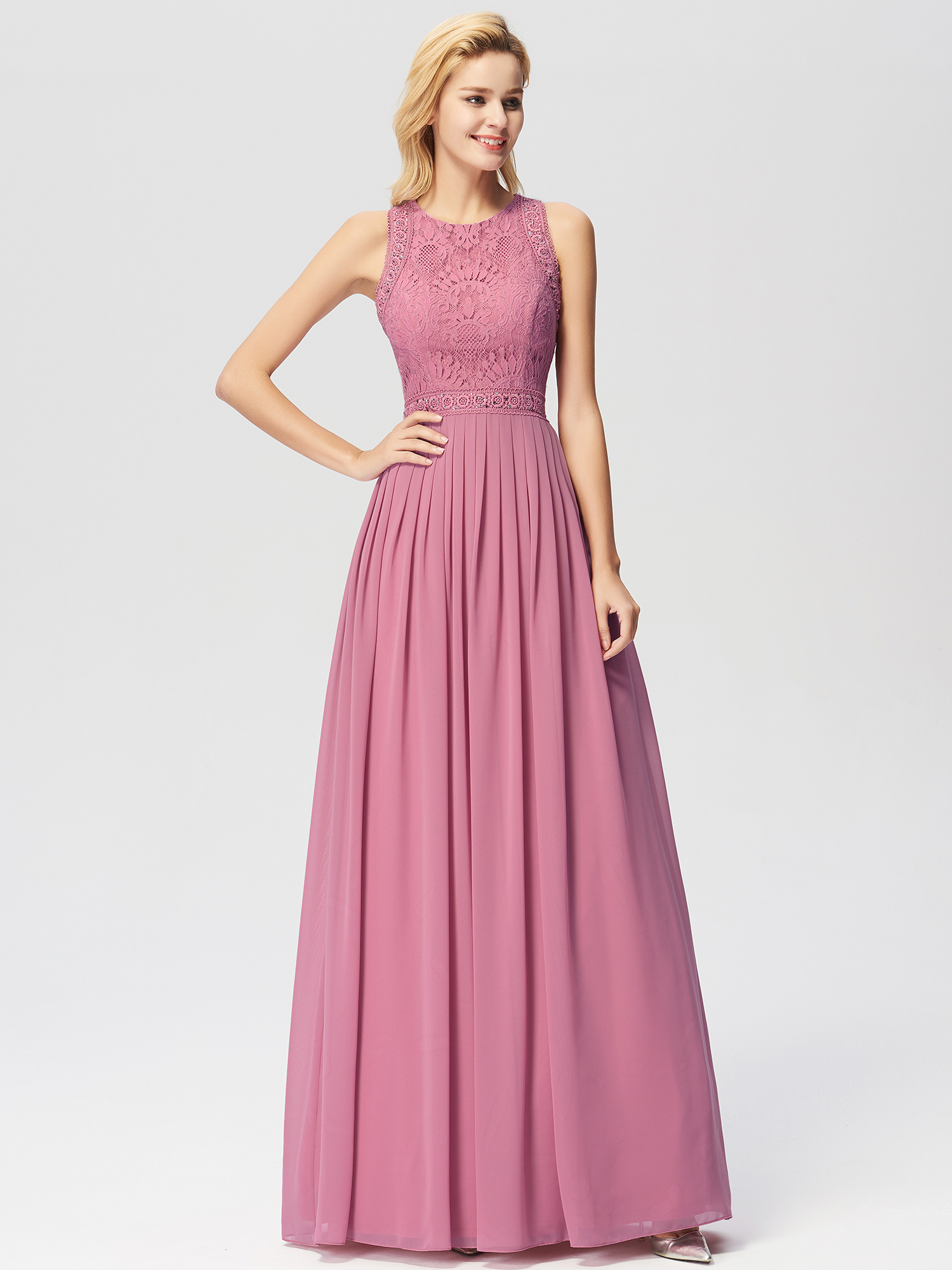 Ever-pretty Lace A-line Evening Dresses Cocktail Prom Bridesmaid Wedding Dresses