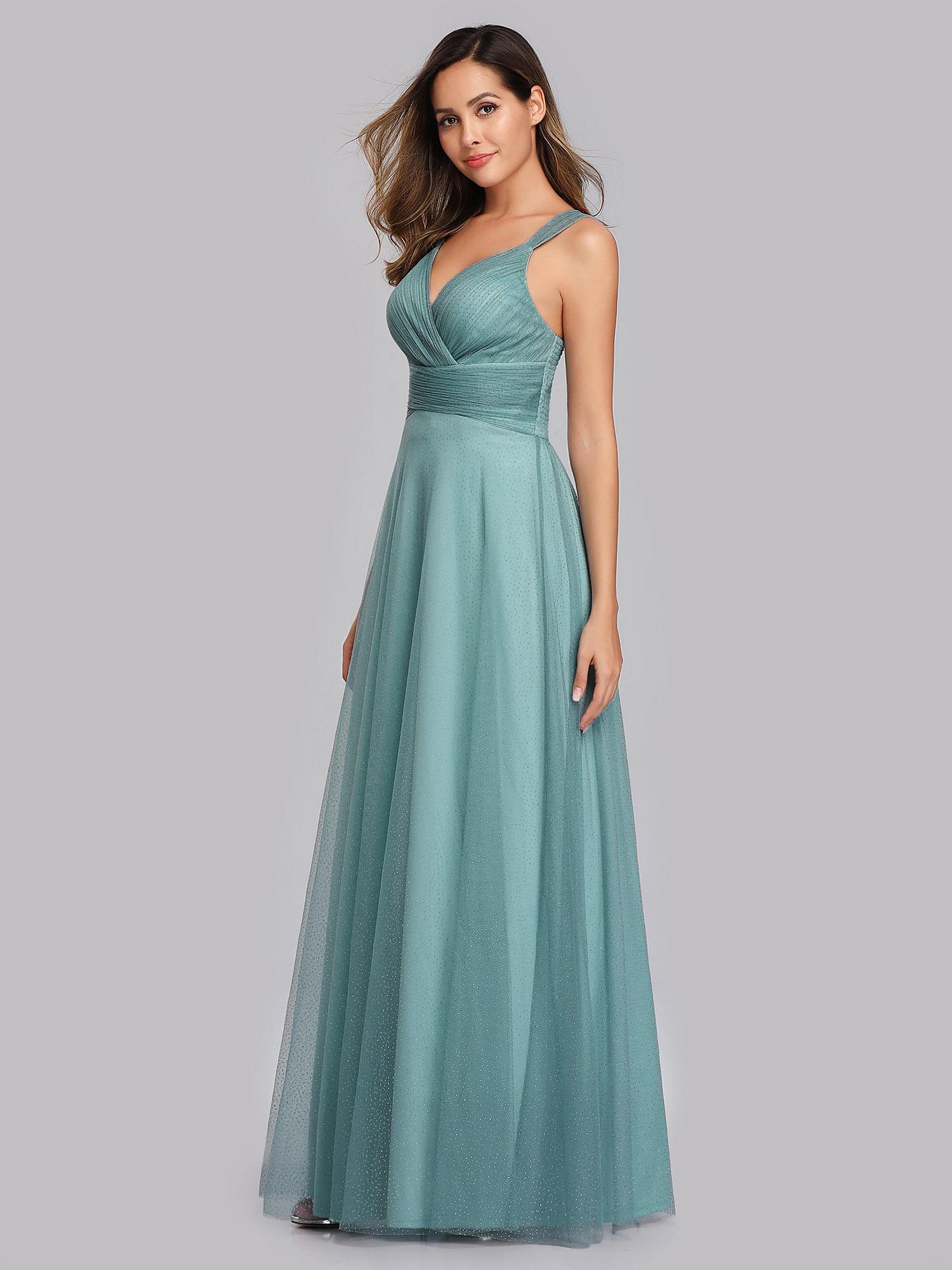 Ever-Pretty US Celebrity Party Dress Sleeveless V-neck Prom Wedding Gowns 07905
