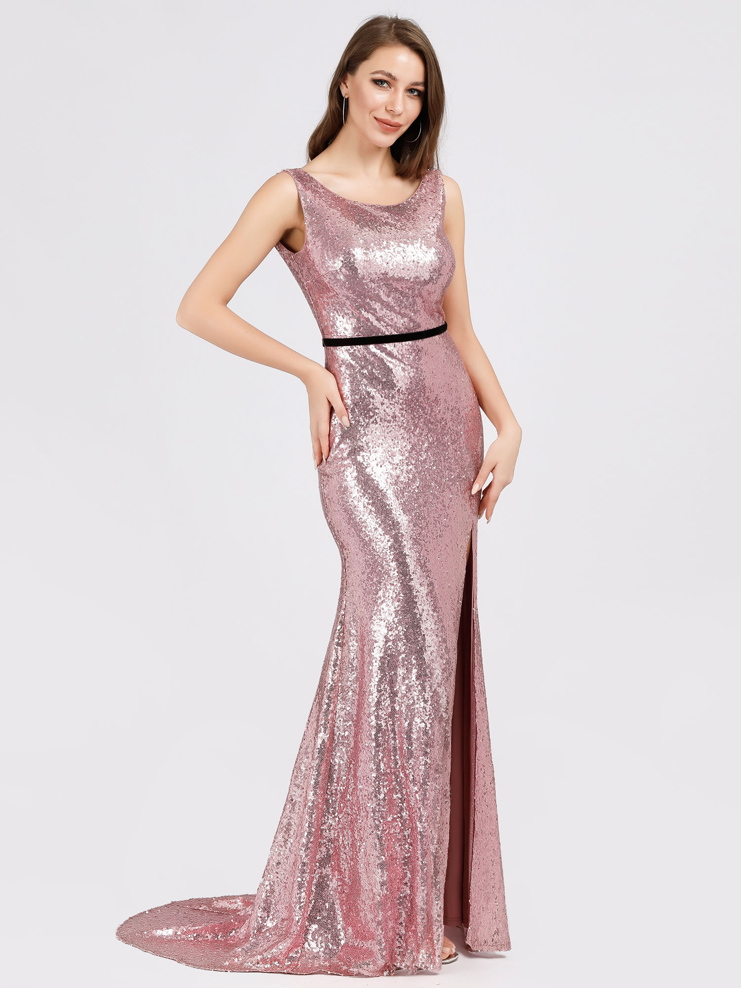 Ever-Pretty Long Sequins Bodycon Prom Gowns Mermaid Evening Cocktail Dress 07932