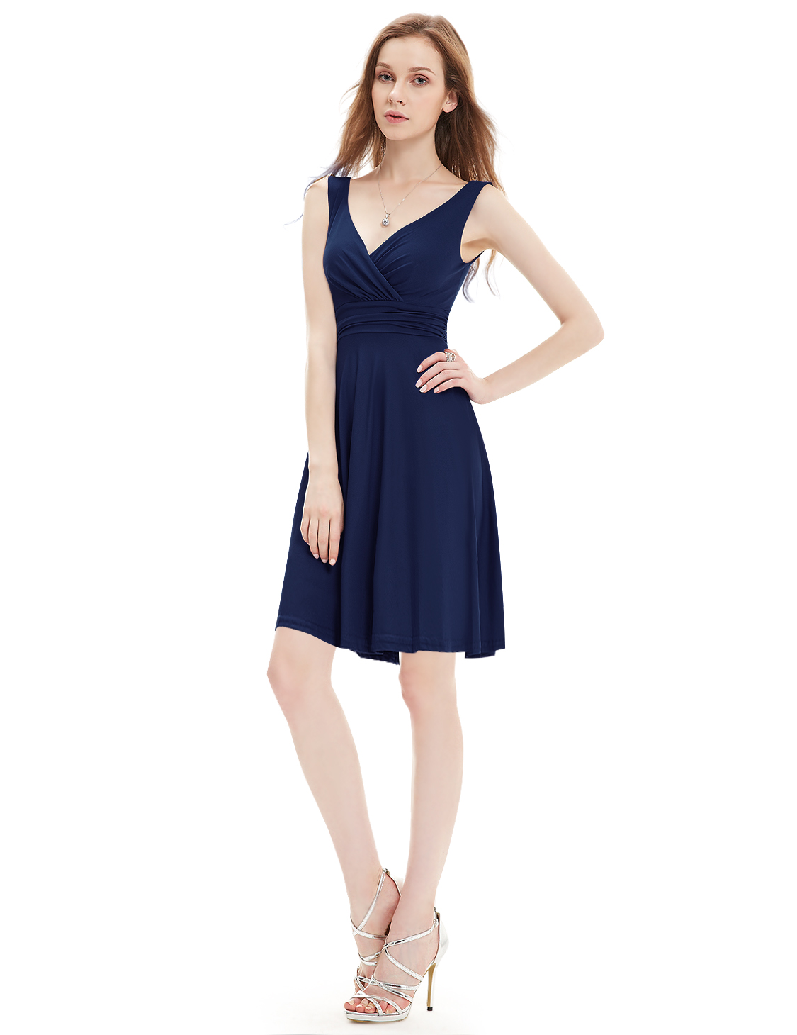 Short V-neck Sexy Women Summer Cocktail Dresses Casual ...