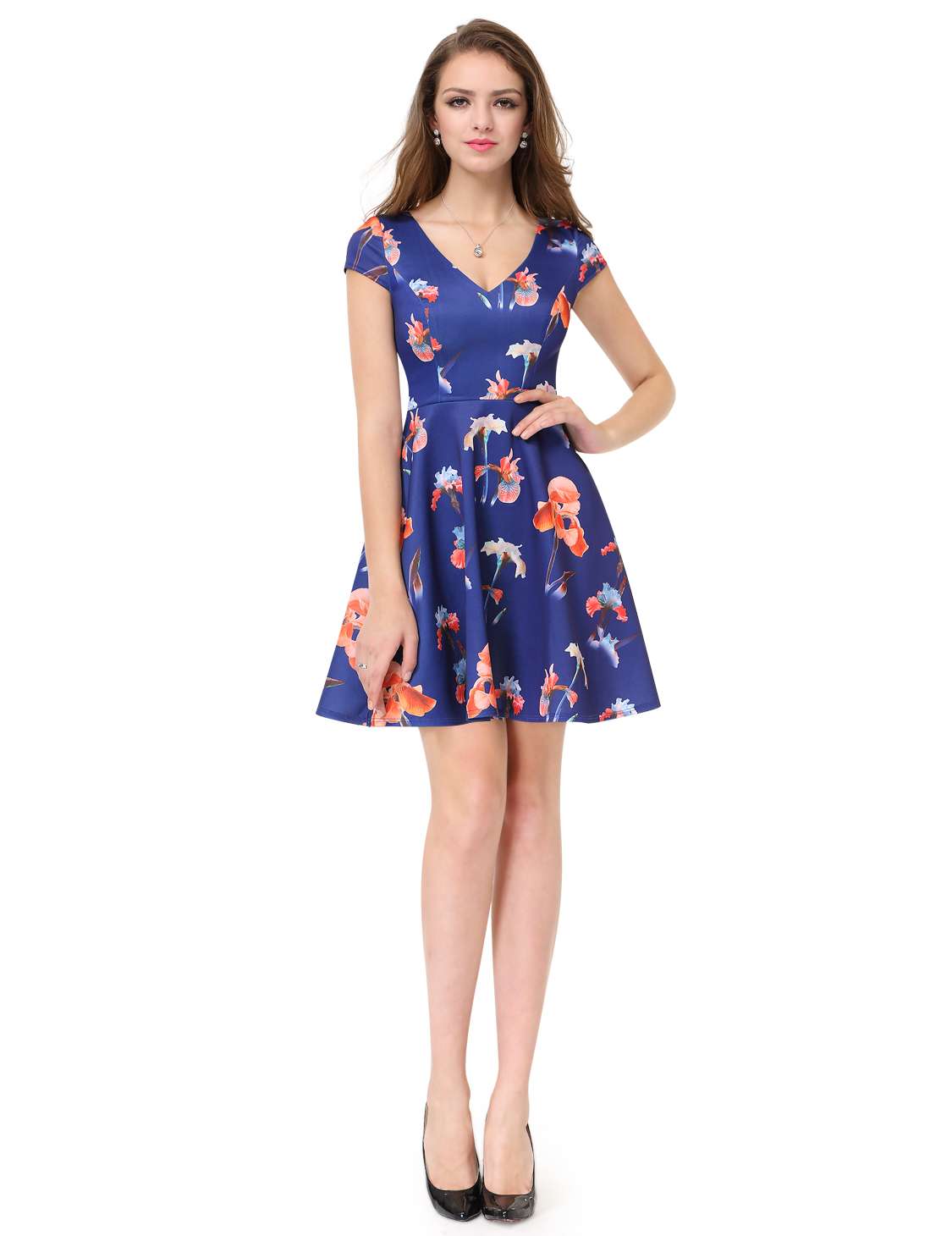 Girl\'s Floral Short Cocktail Party Dresses Homecoming Dress Casual ...