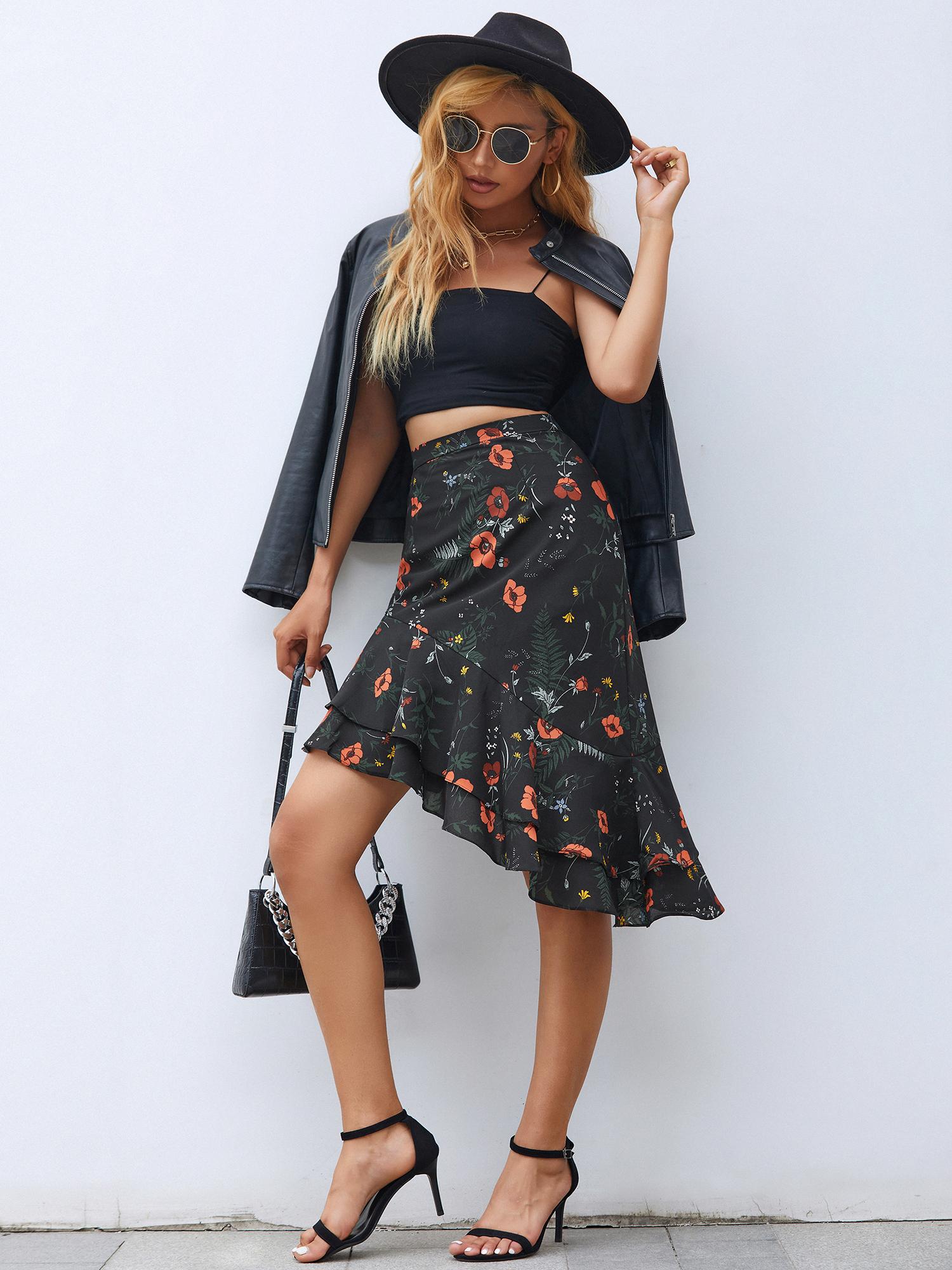 AlisaPan-Lady-Ruffles-Fashion-Vintage-Pencil-Skirts-Floral-Casual-Dress-01134