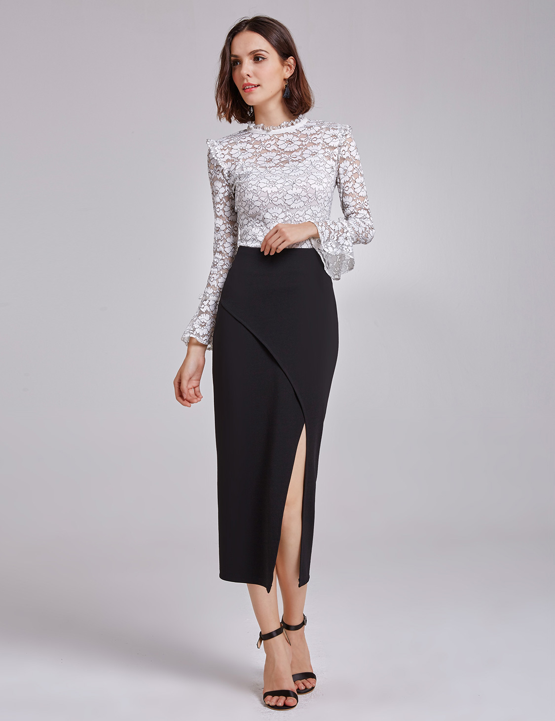 Alisa-Pan-New-Lady-Solid-Sexy-Pencil-Skirt-High-Waist-Casual-Black-Skirt-01148