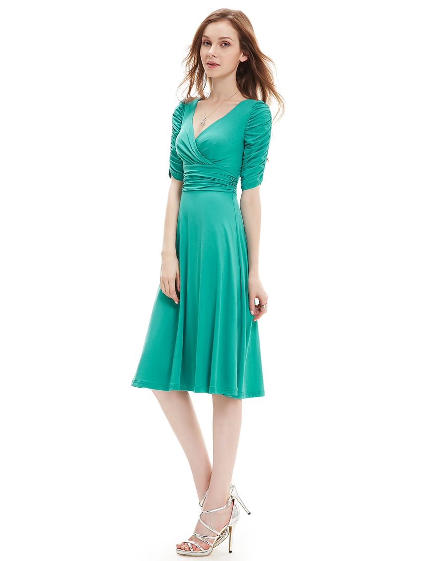 Alisa Pan Casual Dress for Women Knee Length Work Cocktail Party ...