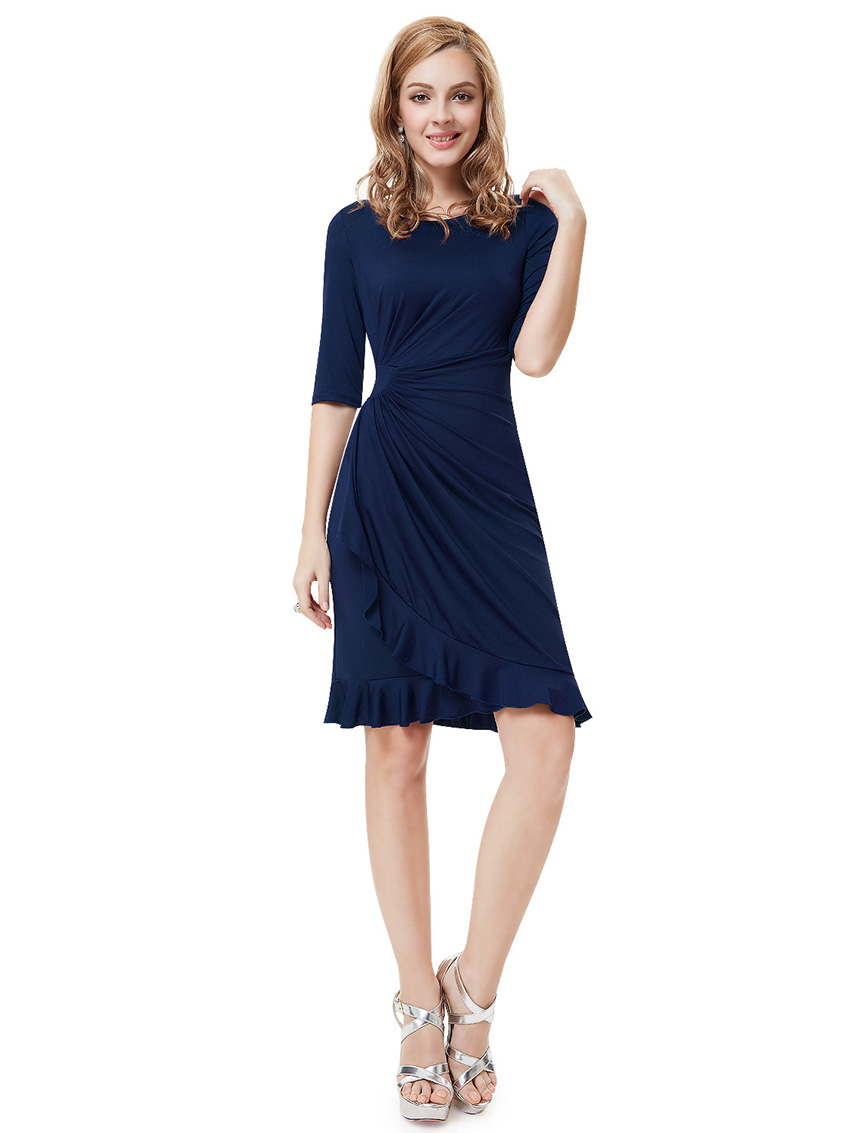 Women Short Sleeve Bodycon Casual Party Evening Cocktail ...
