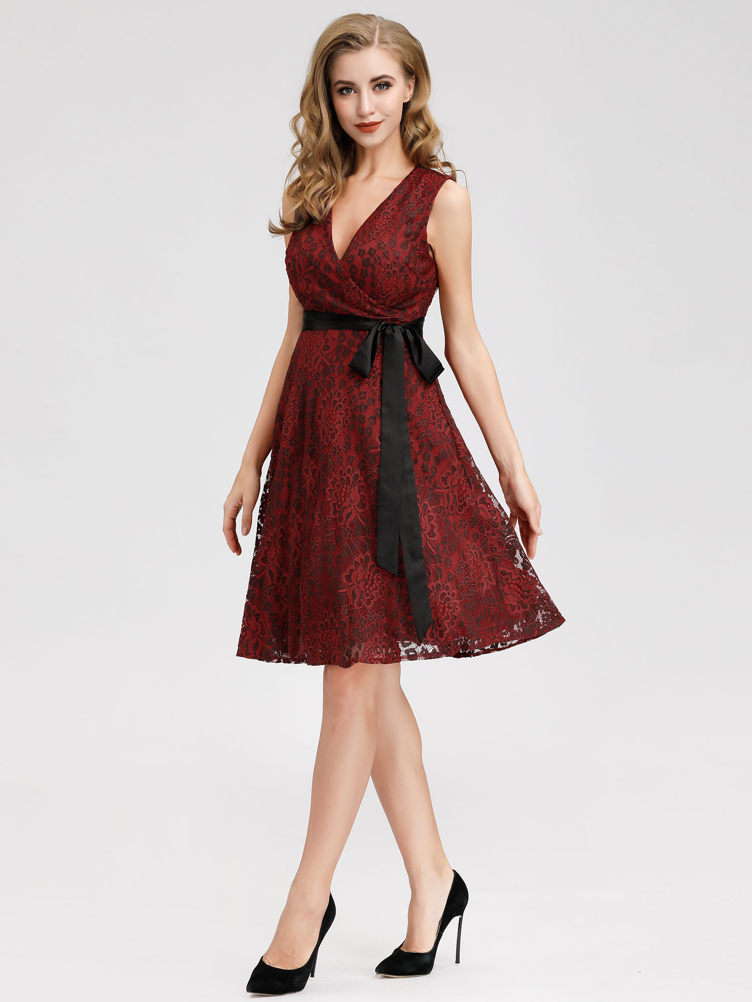 Alisa-Pan-Cocktail-Dress-Burgundy-A-line-Lace-Sleeveless-Short-Party-Gown-04025