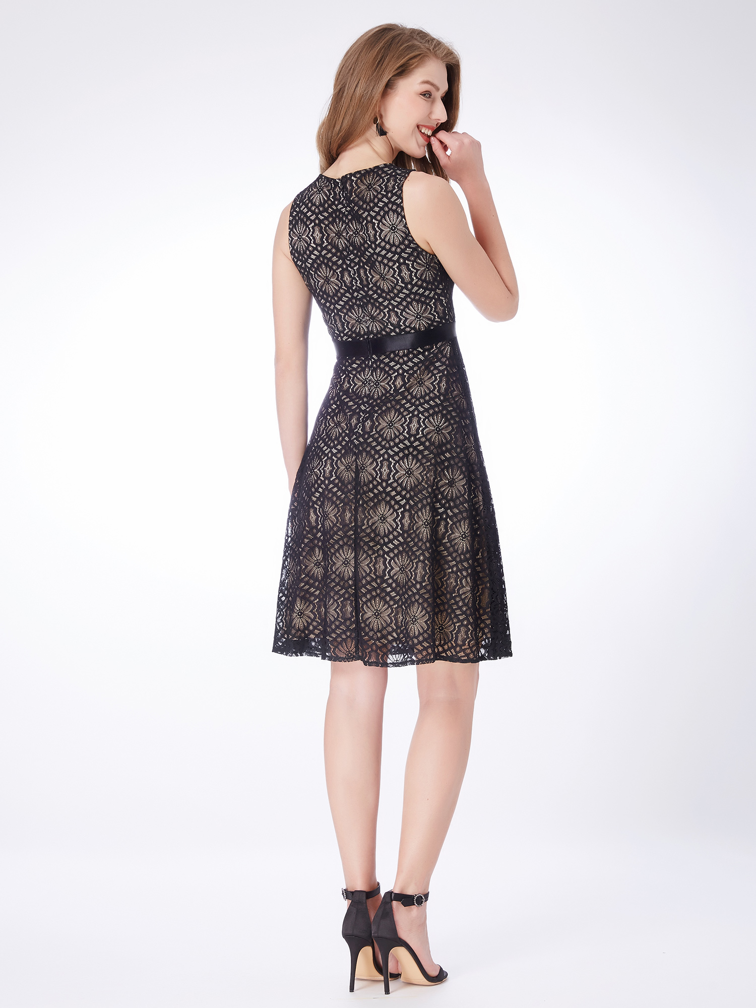 Alisa-Pan-Short-Sexy-Black-Sleeveless-Lace-Casual-Dresses-Cocktail-Skirts-04043