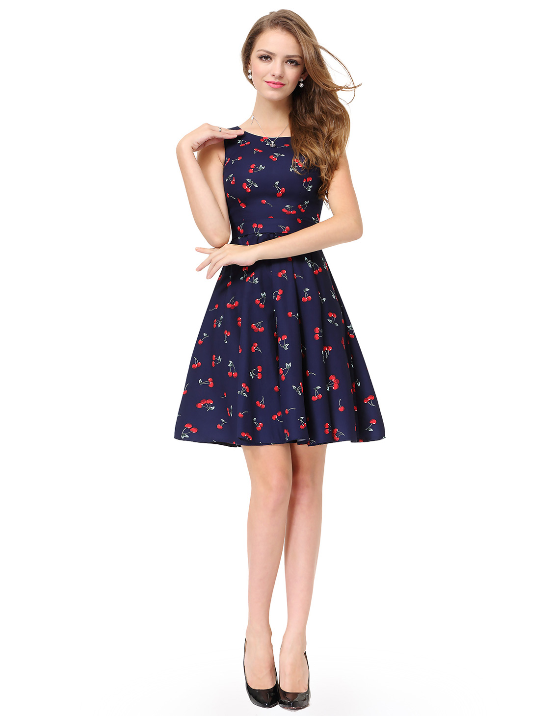 38dc83d7a27 Alisa Pan Womens Sleeveless Floral Printed Casual Dresses 05488