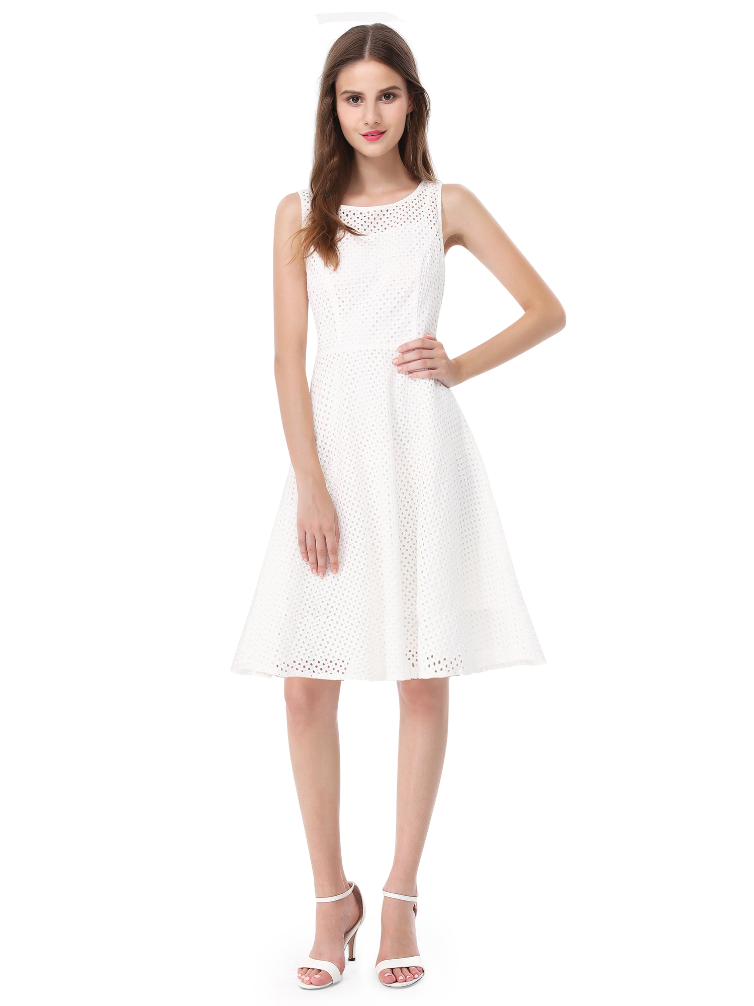 Alisapan White Casual Dresses Summer Beach Cocktail Party ...