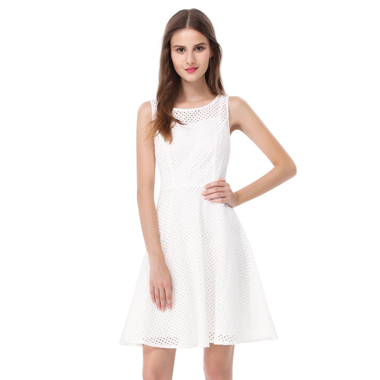 Alisapan Damen Kurz Weiss Freizeit Sommer Kleider 05504   eBay