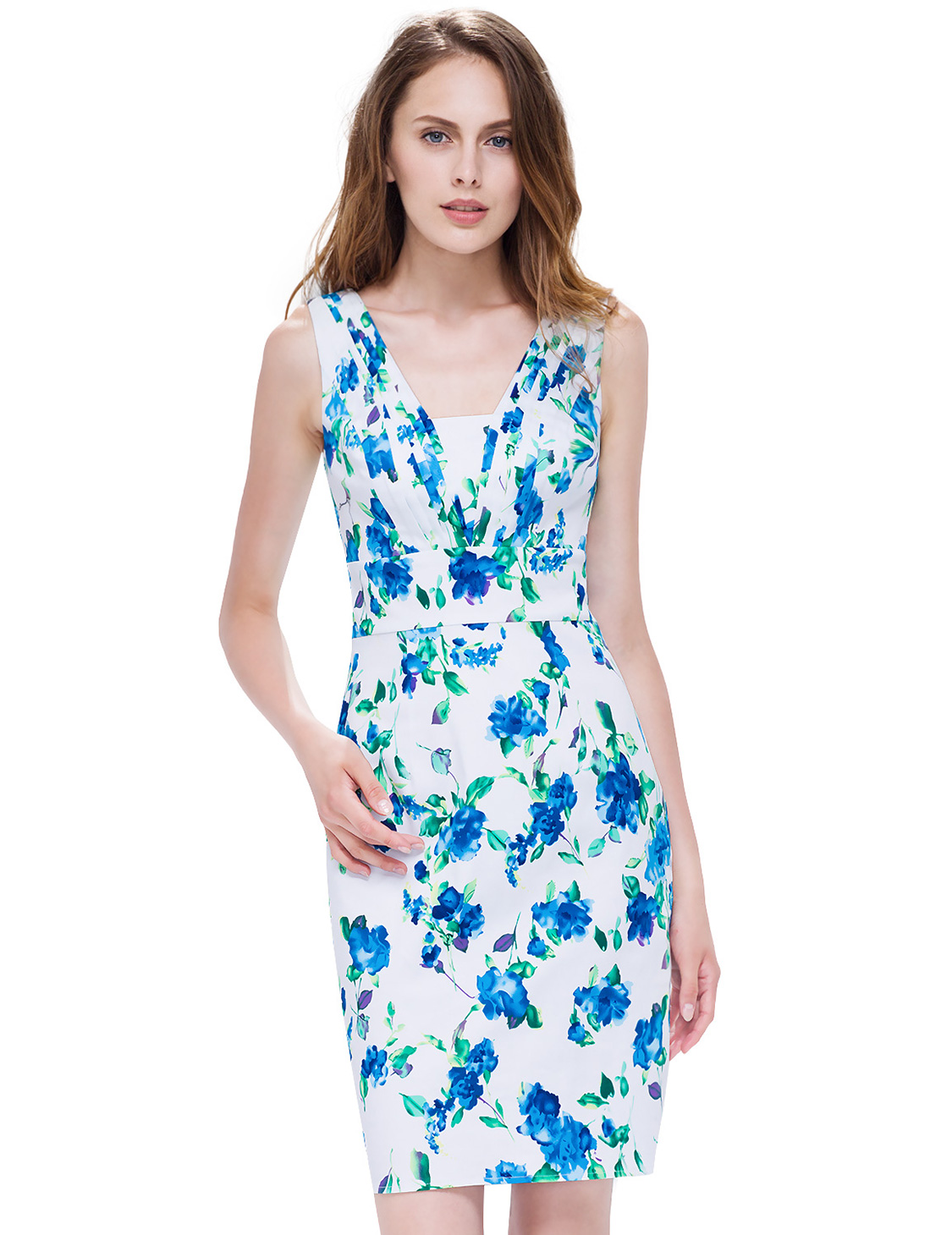Alisa Pan Women Bodycon Short Cocktail Dress Floral Printed Party ...