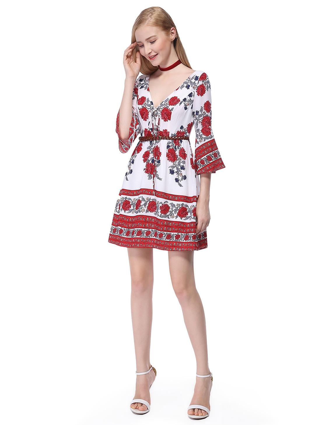 alisapan damen kurz rot sommer freizeit kleider 05657 ebay. Black Bedroom Furniture Sets. Home Design Ideas