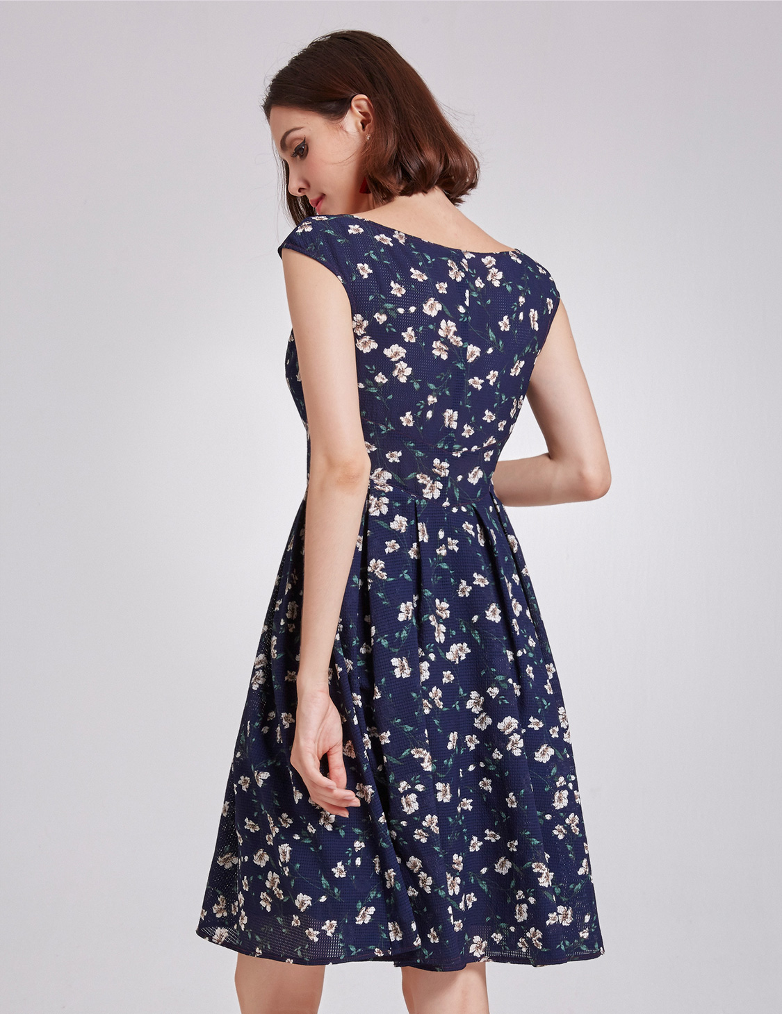 Alisa-Pan-Short-Cocktail-Dress-Floral-Print-V-Neck-Casual-Party-Dresses-05799