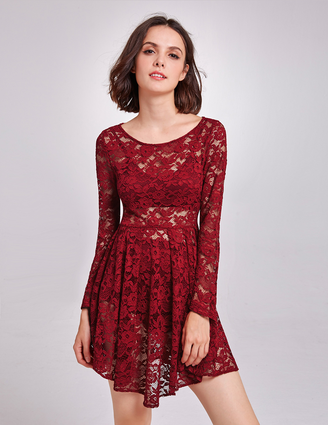 Ever-pretty US Short Lace Sexy Dresses Cocktail Club Dresses Casual ...