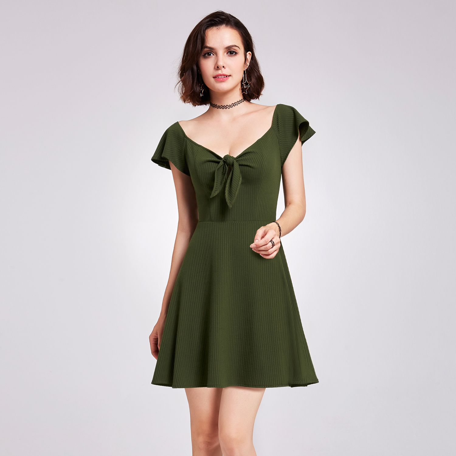 Alisa Pan Cocktail Party Dresses Short Sleeve V Neck Summer Dresses ...