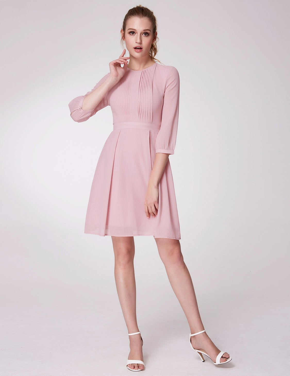 Alisa Pan Short Mini Sleeve Pink Ball Gown Casual Dresses Pageant a ...