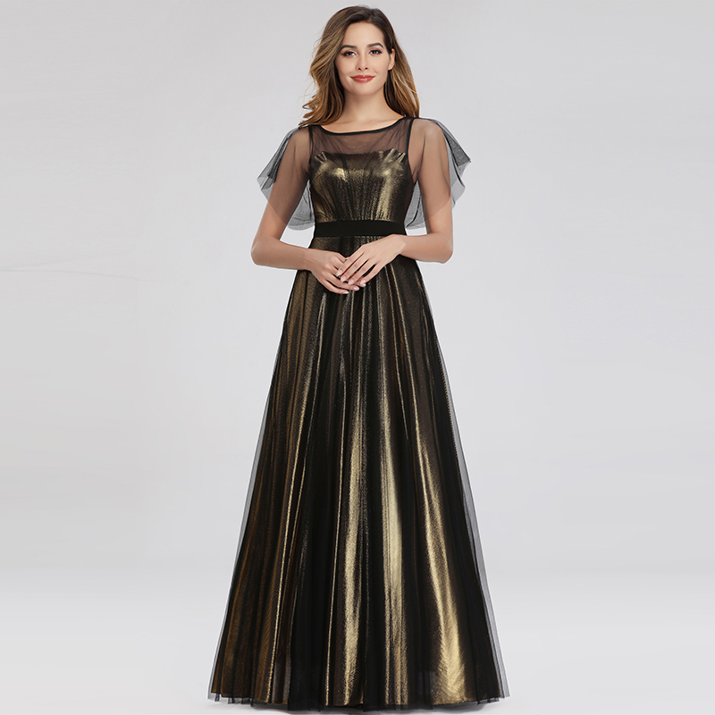 Fashion Glitter Evening Dresses Clubwear Dress Mesh Cocktail Gowns Long 07636