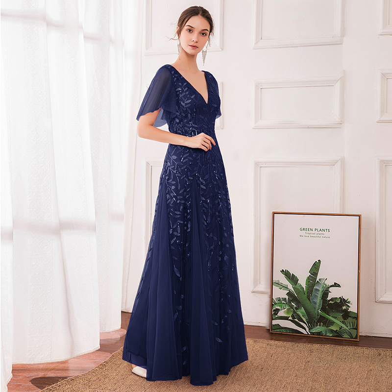 Ever-Pretty Women/'s V-Neck Embroidered Wedding Party Evening Prom Dresses Gowns