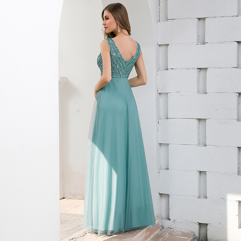 Ever-Pretty-Double-V-neck-Formal-Long-Evening-Prom-Dress-Wedding-Celebrity-Gowns thumbnail 9