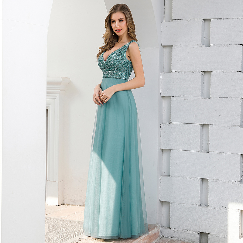 Ever-Pretty-Double-V-neck-Formal-Long-Evening-Prom-Dress-Wedding-Celebrity-Gowns thumbnail 10