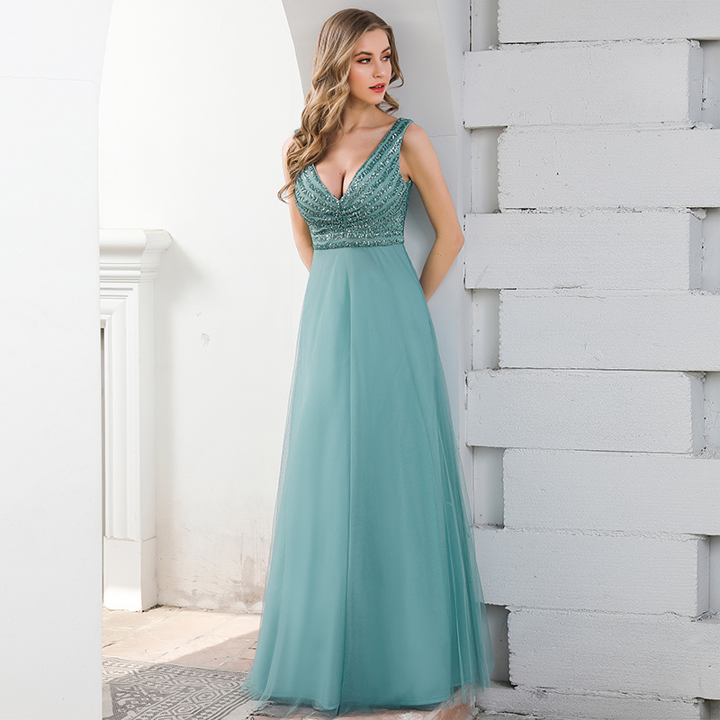Ever-Pretty-Double-V-neck-Formal-Long-Evening-Prom-Dress-Wedding-Celebrity-Gowns thumbnail 11