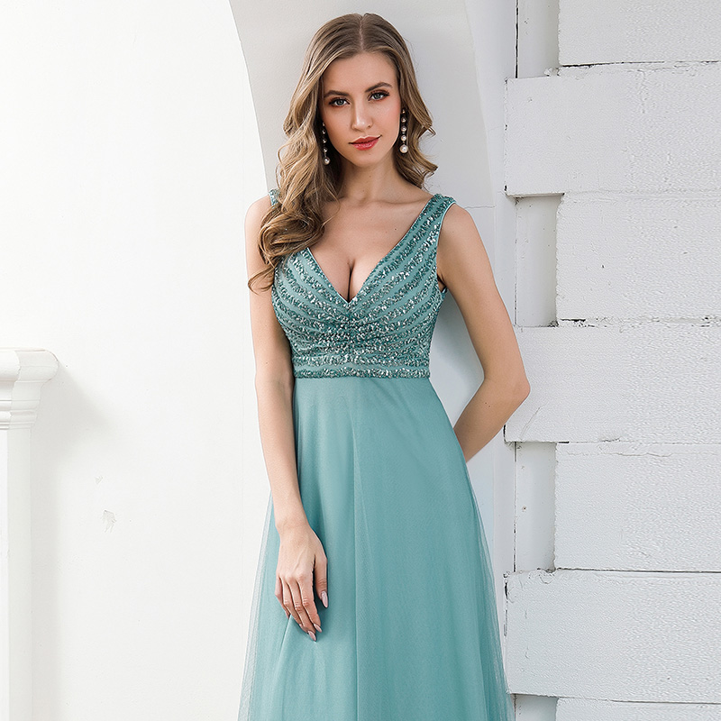 Ever-Pretty-Double-V-neck-Formal-Long-Evening-Prom-Dress-Wedding-Celebrity-Gowns thumbnail 12