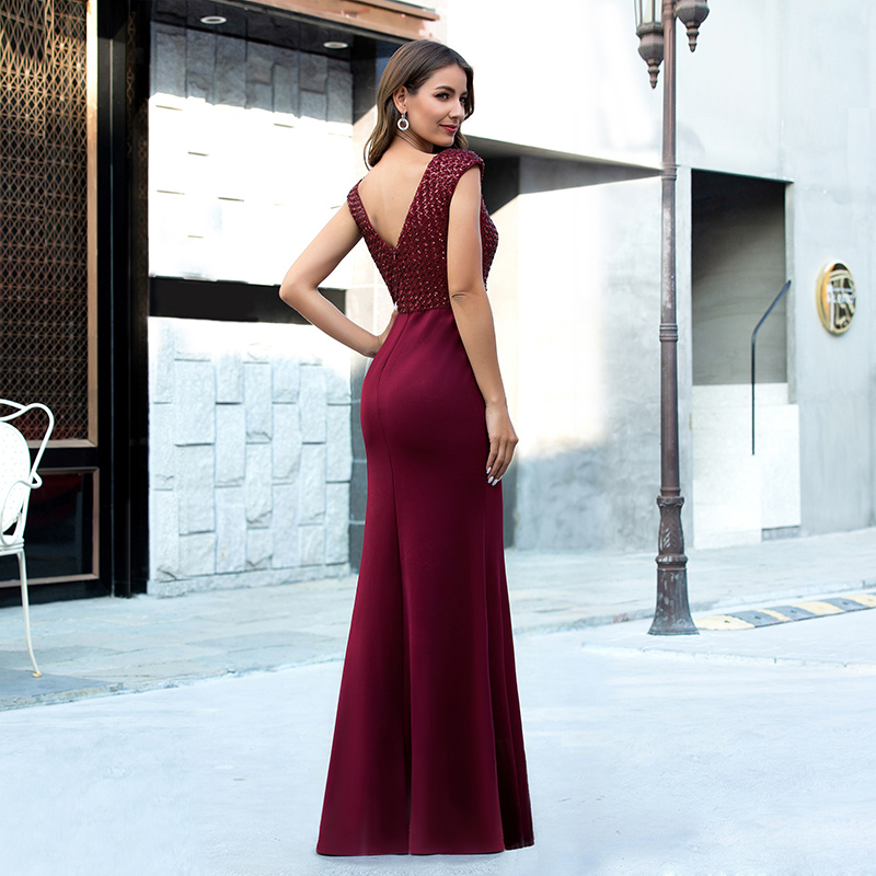 Ever-Pretty-Women-V-neck-Cap-Sleeve-Long-Prom-Dress-Fishtail-Evening-Party-Gowns thumbnail 9