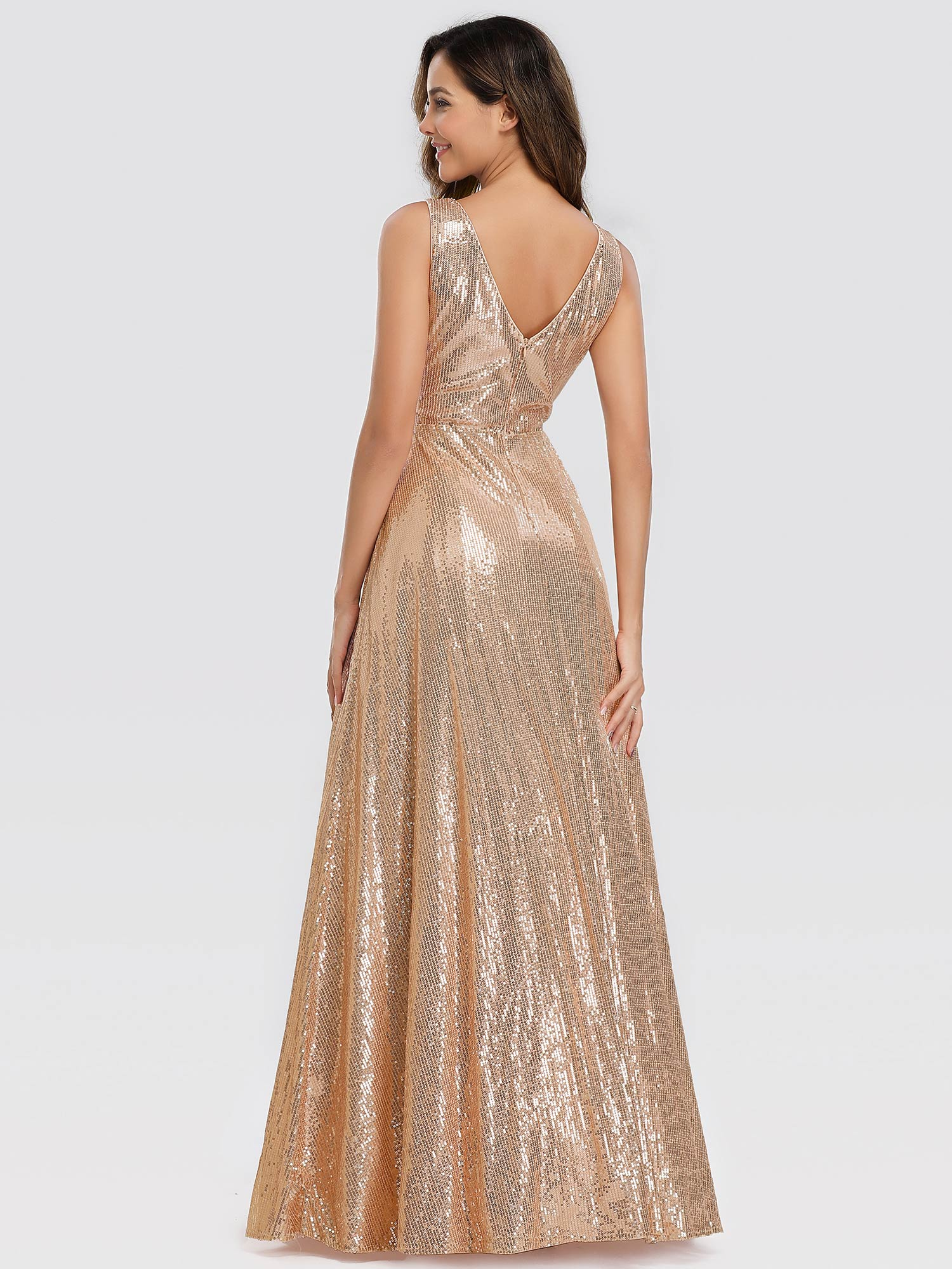 Ever-pretty Rose Gold Formal Evening Party Dresses Long ...