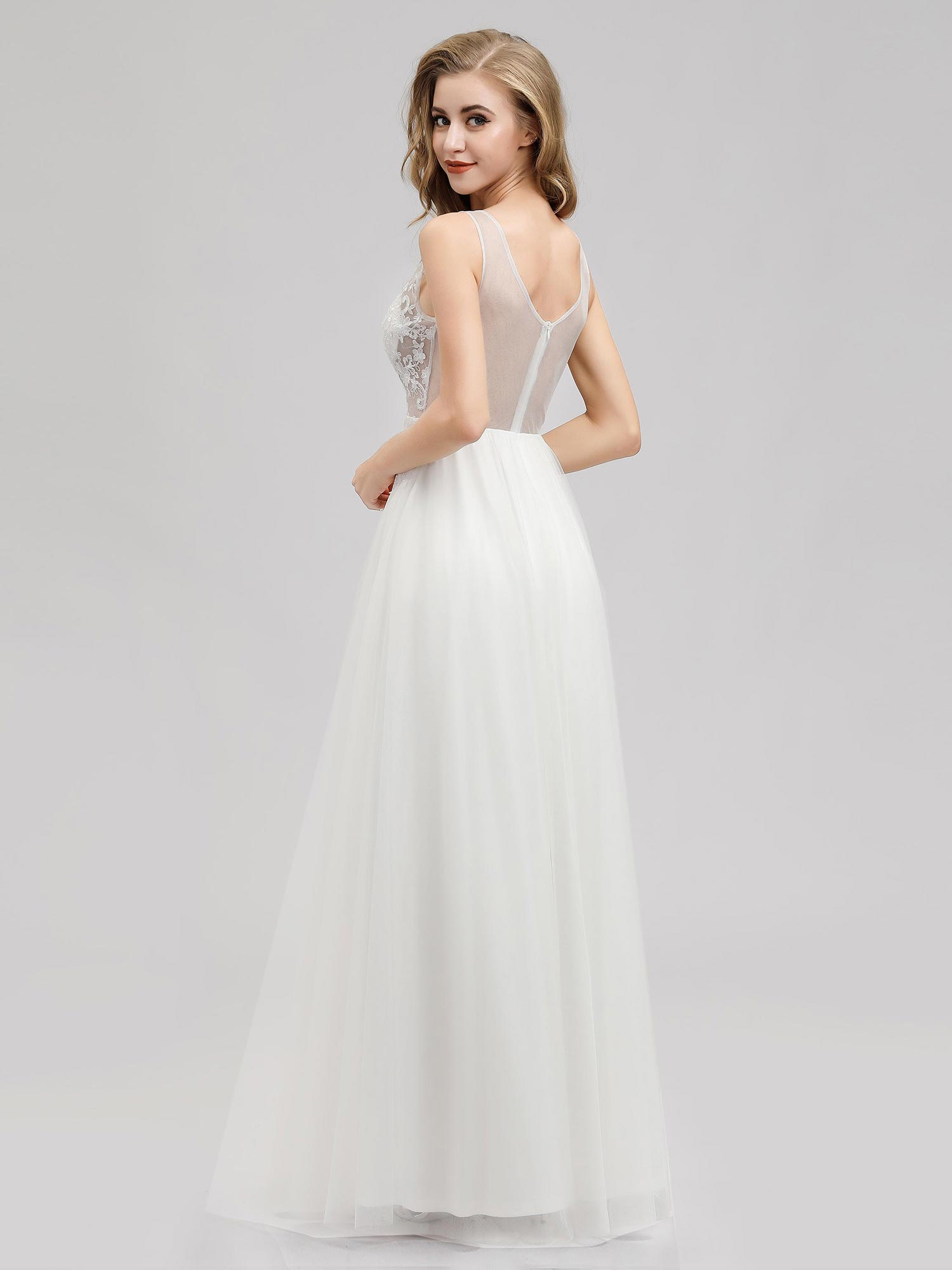 Ever-pretty-Sleeveless-Formal-Lace-Evening-Party-Dress-Cocktail-Homecoming-Prom thumbnail 5