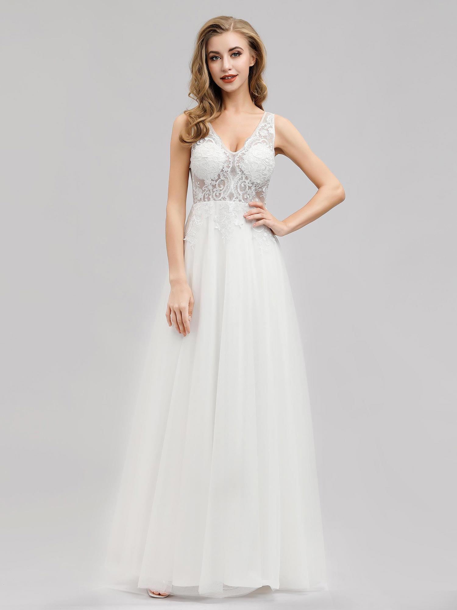 Ever-pretty-Sleeveless-Formal-Lace-Evening-Party-Dress-Cocktail-Homecoming-Prom thumbnail 6