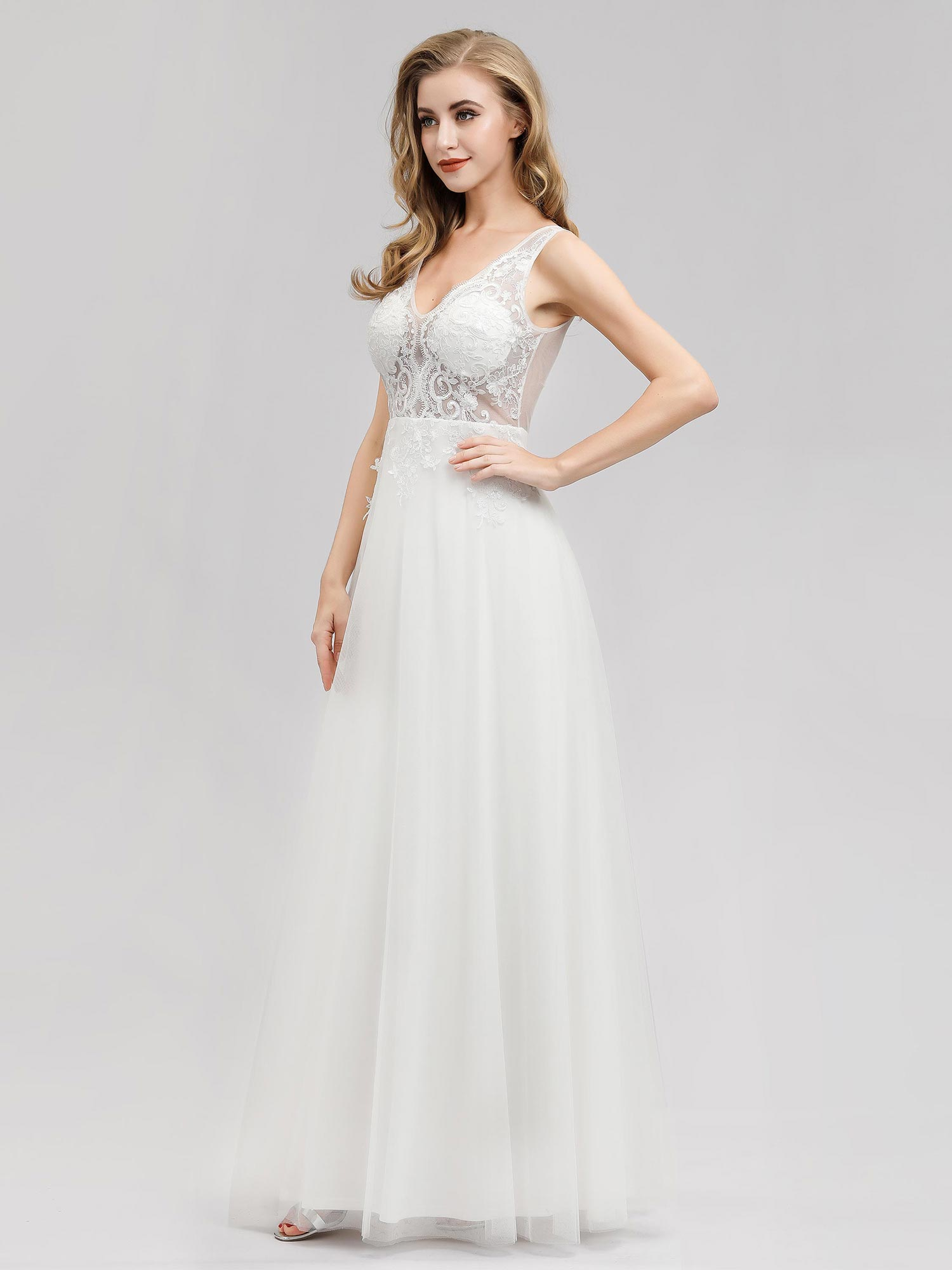 Ever-pretty-Sleeveless-Formal-Lace-Evening-Party-Dress-Cocktail-Homecoming-Prom thumbnail 7