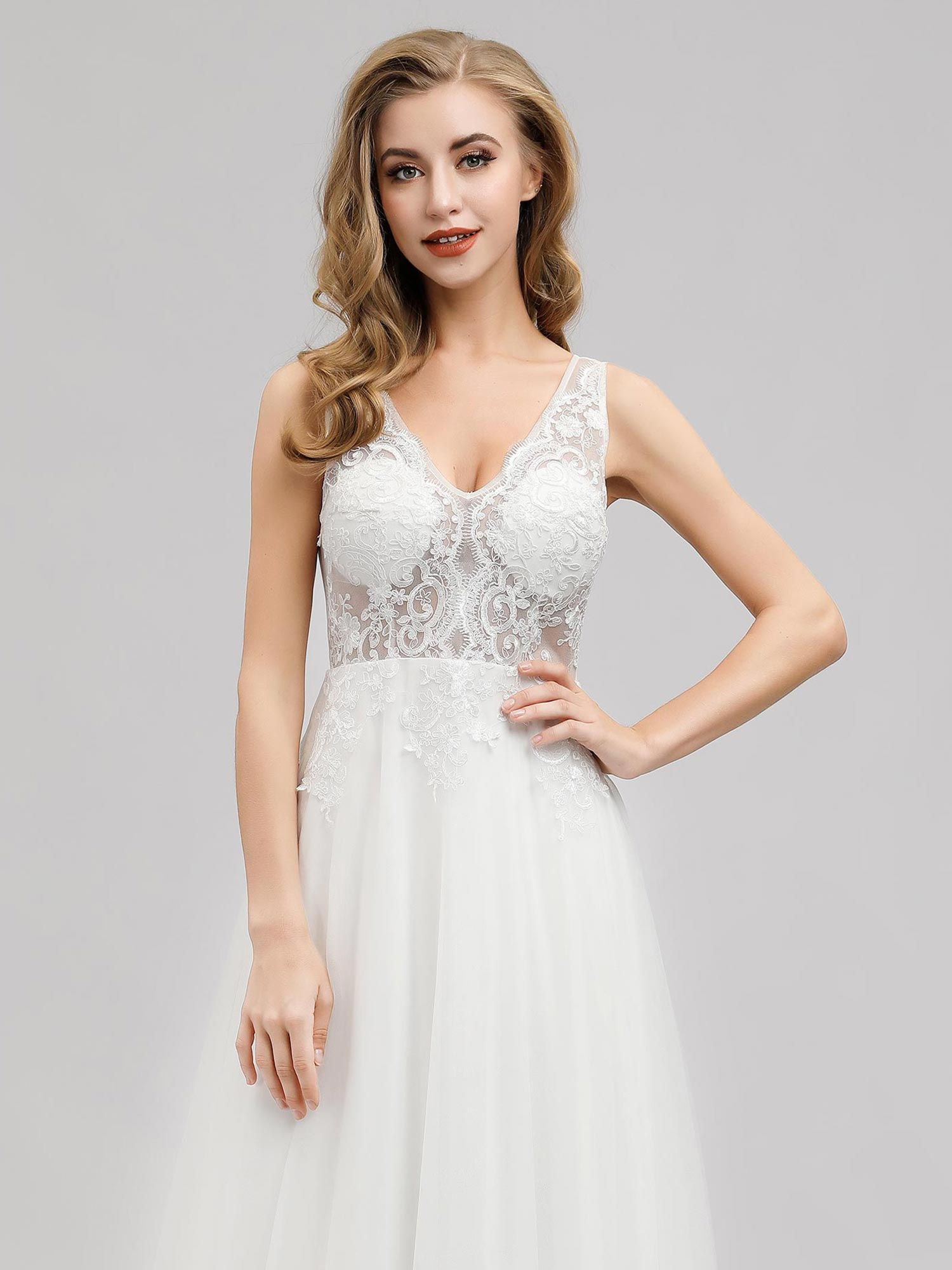 Ever-pretty-Sleeveless-Formal-Lace-Evening-Party-Dress-Cocktail-Homecoming-Prom thumbnail 8