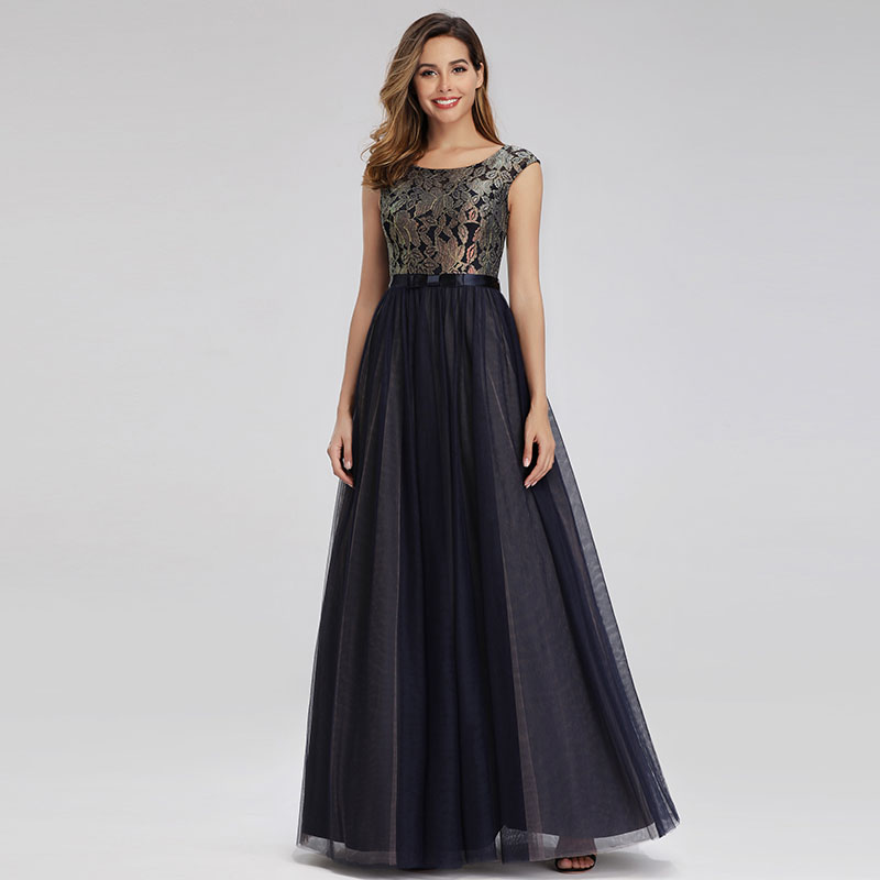 UK Ever-Pretty Long Sleeve Formal Evening Party Dresses Cocktail Homecoming Gown