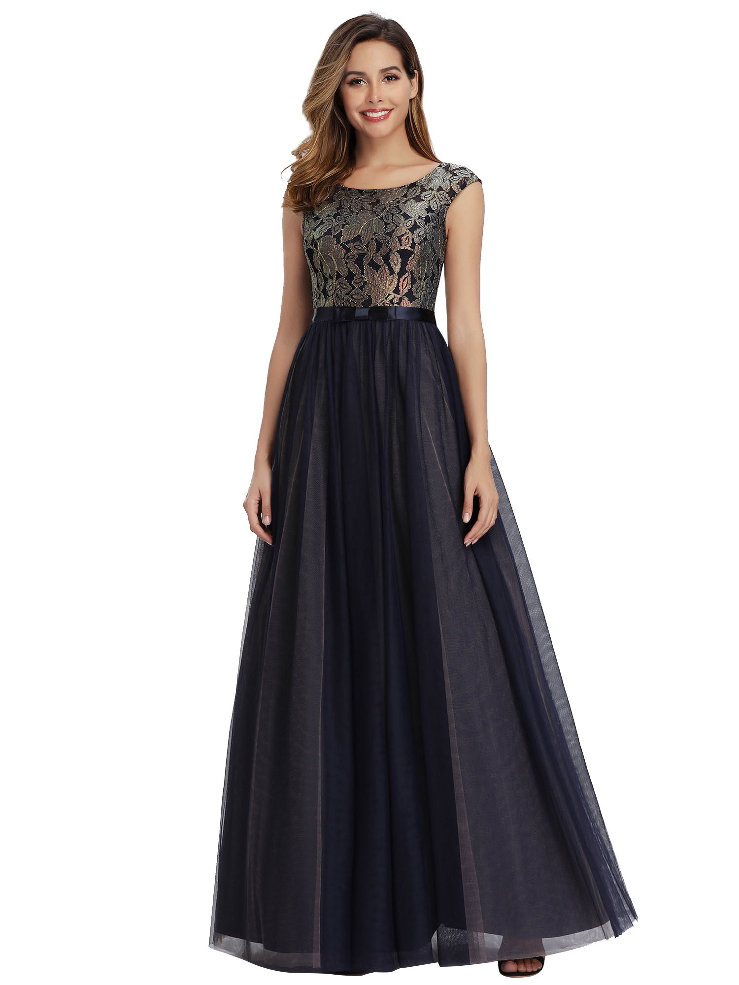 Ever-pretty-Formal-A-line-Evening-Gowns-Cocktail-Long-Lace-Homecoming-Prom-Dress thumbnail 4