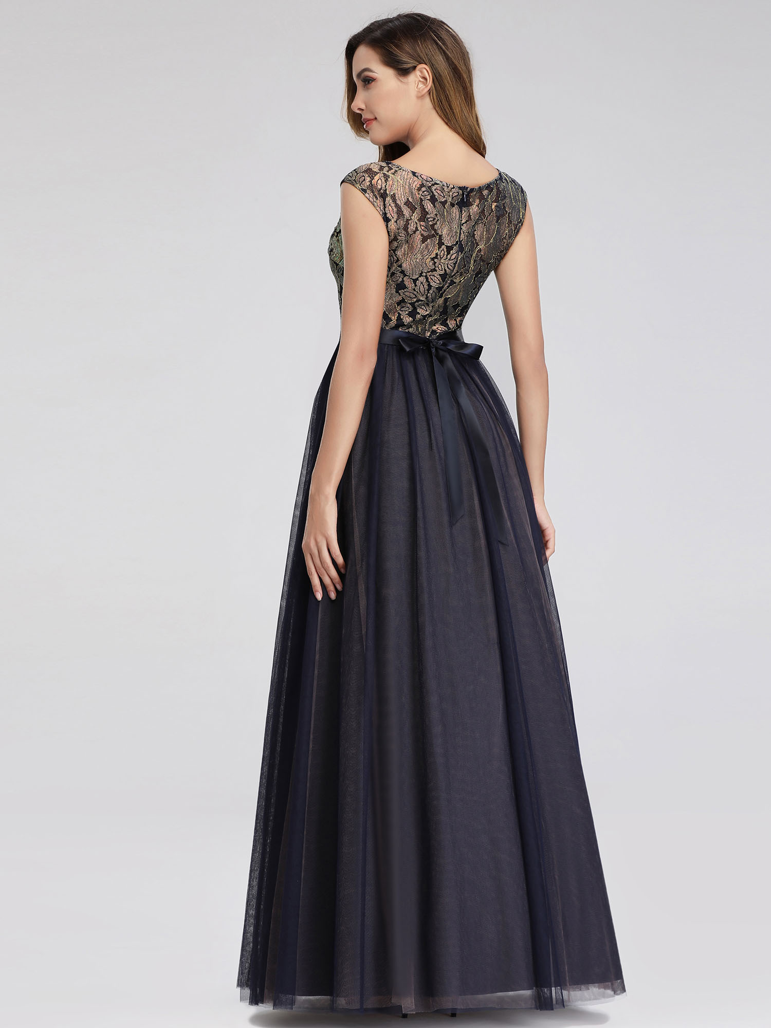 Ever-pretty-Formal-A-line-Evening-Gowns-Cocktail-Long-Lace-Homecoming-Prom-Dress thumbnail 5