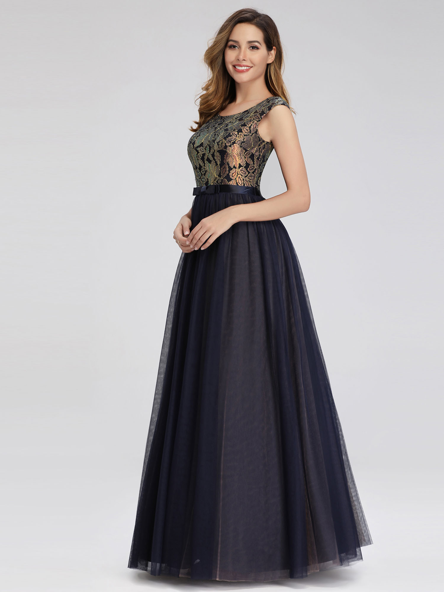 Ever-pretty-Formal-A-line-Evening-Gowns-Cocktail-Long-Lace-Homecoming-Prom-Dress thumbnail 6