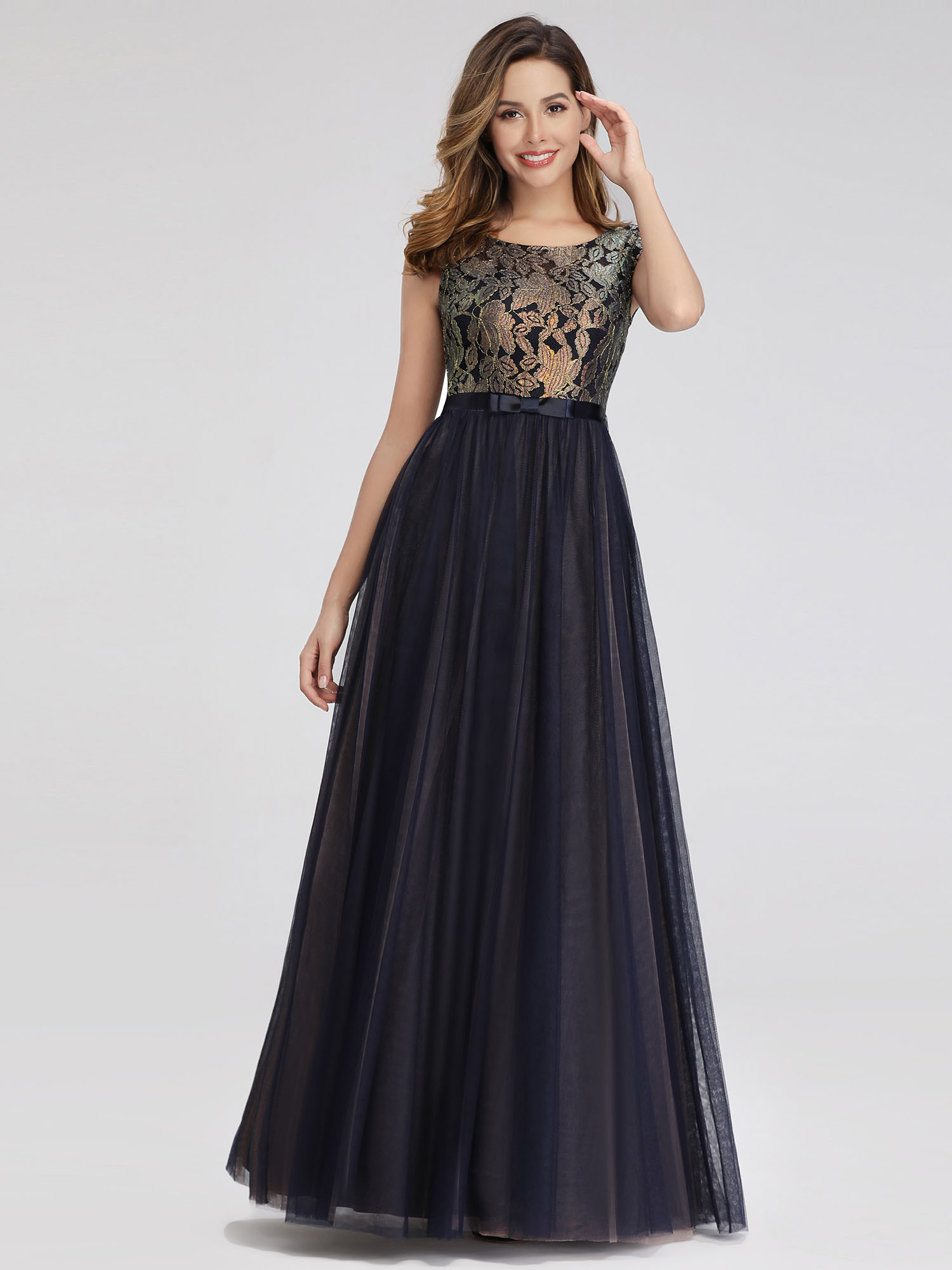Ever-pretty-Formal-A-line-Evening-Gowns-Cocktail-Long-Lace-Homecoming-Prom-Dress thumbnail 7