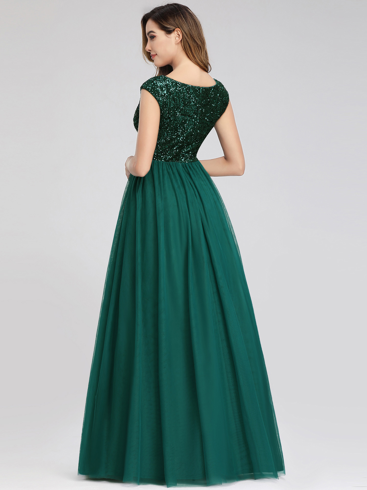 Ever-Pretty-A-Line-Bridesmaid-Dresses-Long-Chiffon-Lace-Wedding-Prom-Gown-00983 thumbnail 5