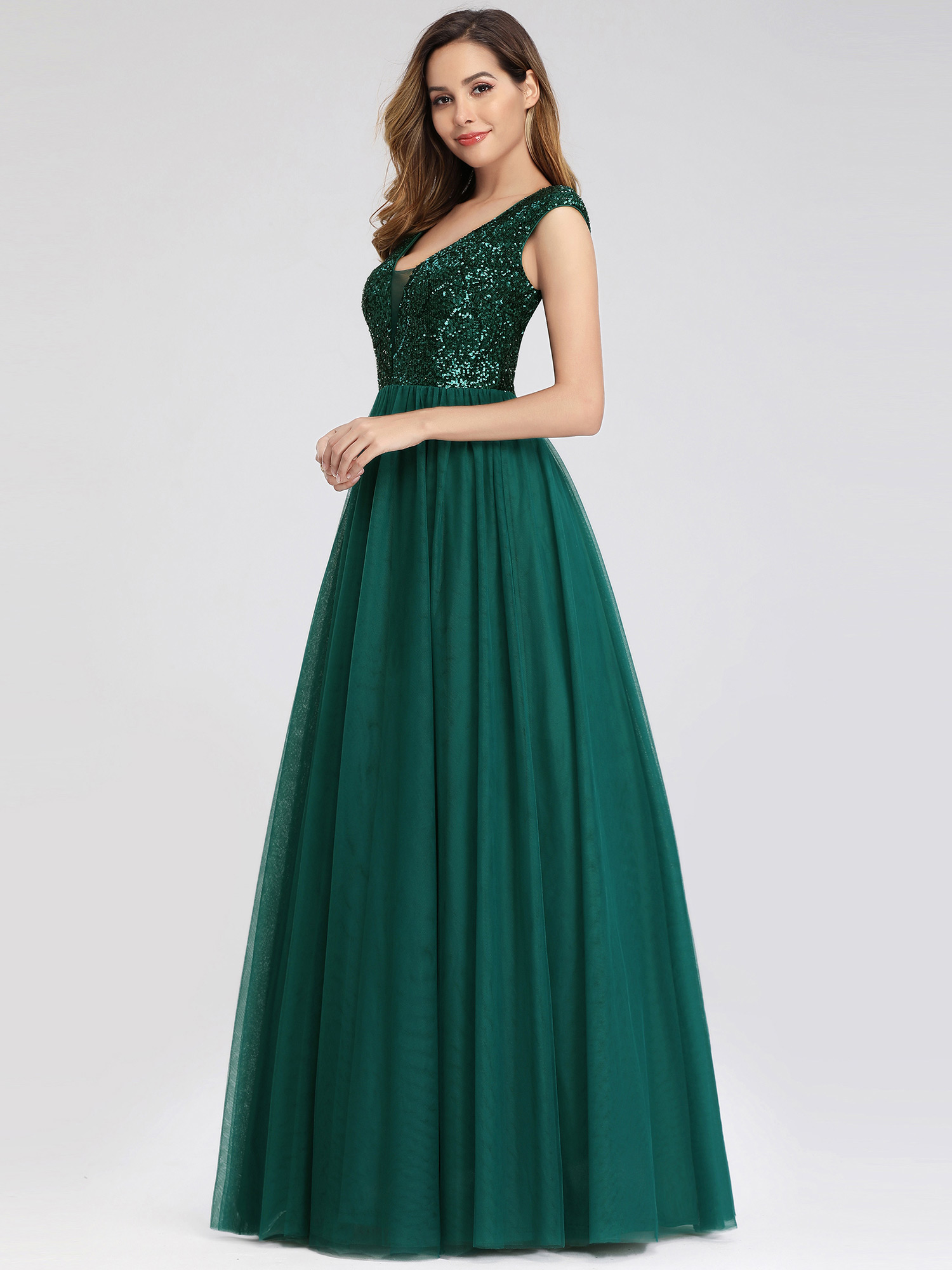 Ever-Pretty-A-Line-Bridesmaid-Dresses-Long-Chiffon-Lace-Wedding-Prom-Gown-00983 thumbnail 6