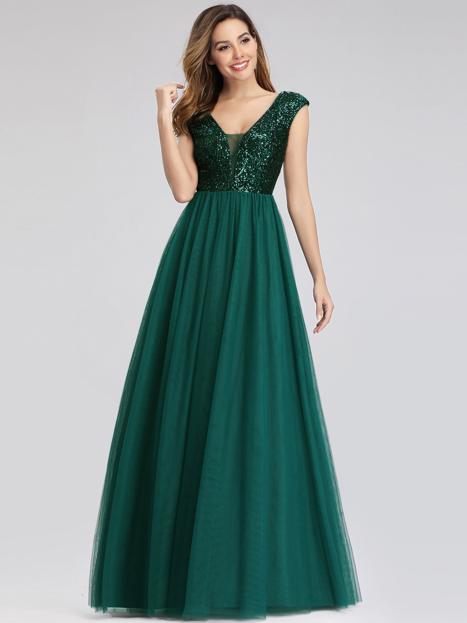 Ever-Pretty-A-Line-Bridesmaid-Dresses-Long-Chiffon-Lace-Wedding-Prom-Gown-00983 thumbnail 7