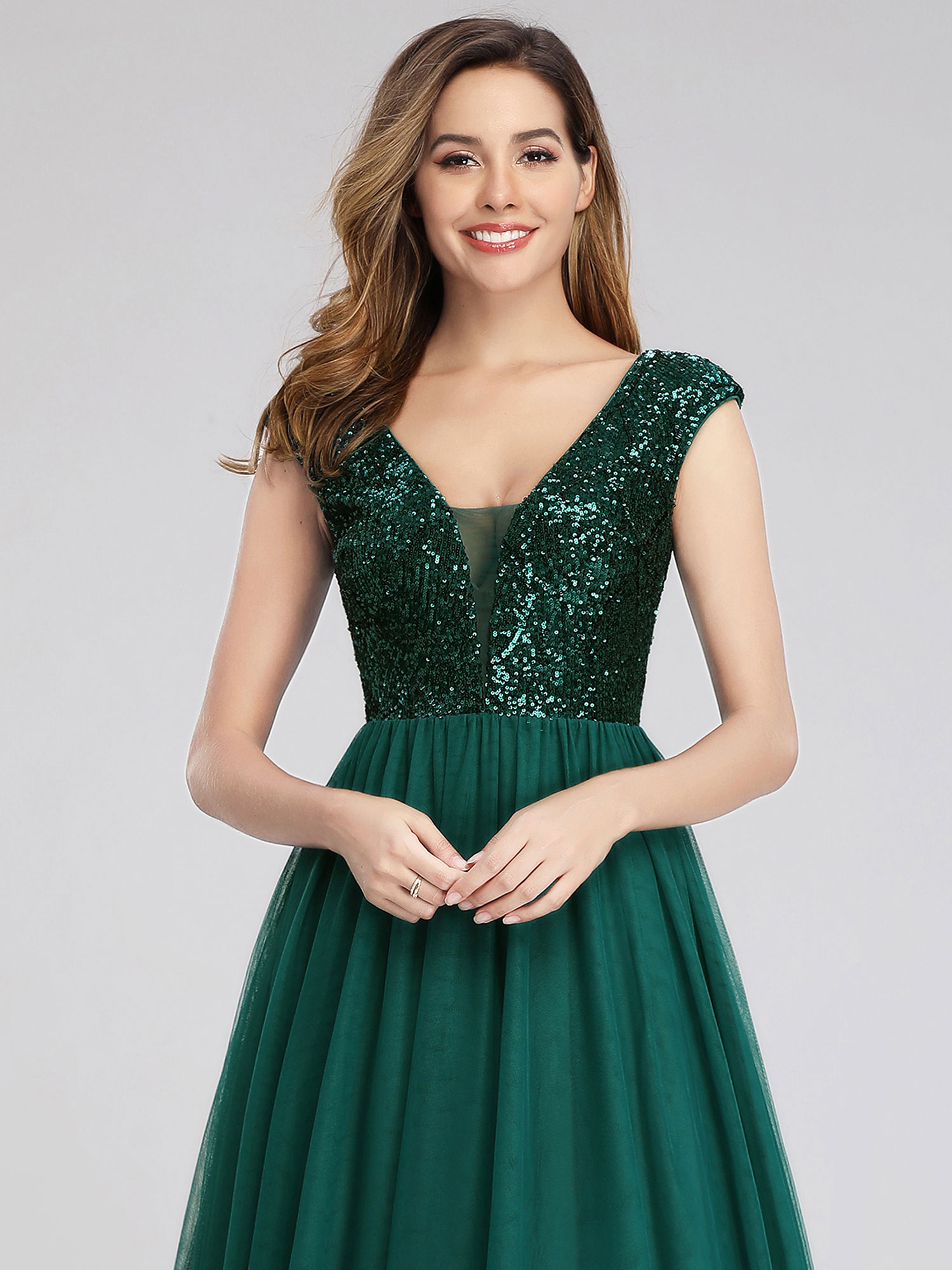 Ever-Pretty-A-Line-Bridesmaid-Dresses-Long-Chiffon-Lace-Wedding-Prom-Gown-00983 thumbnail 8