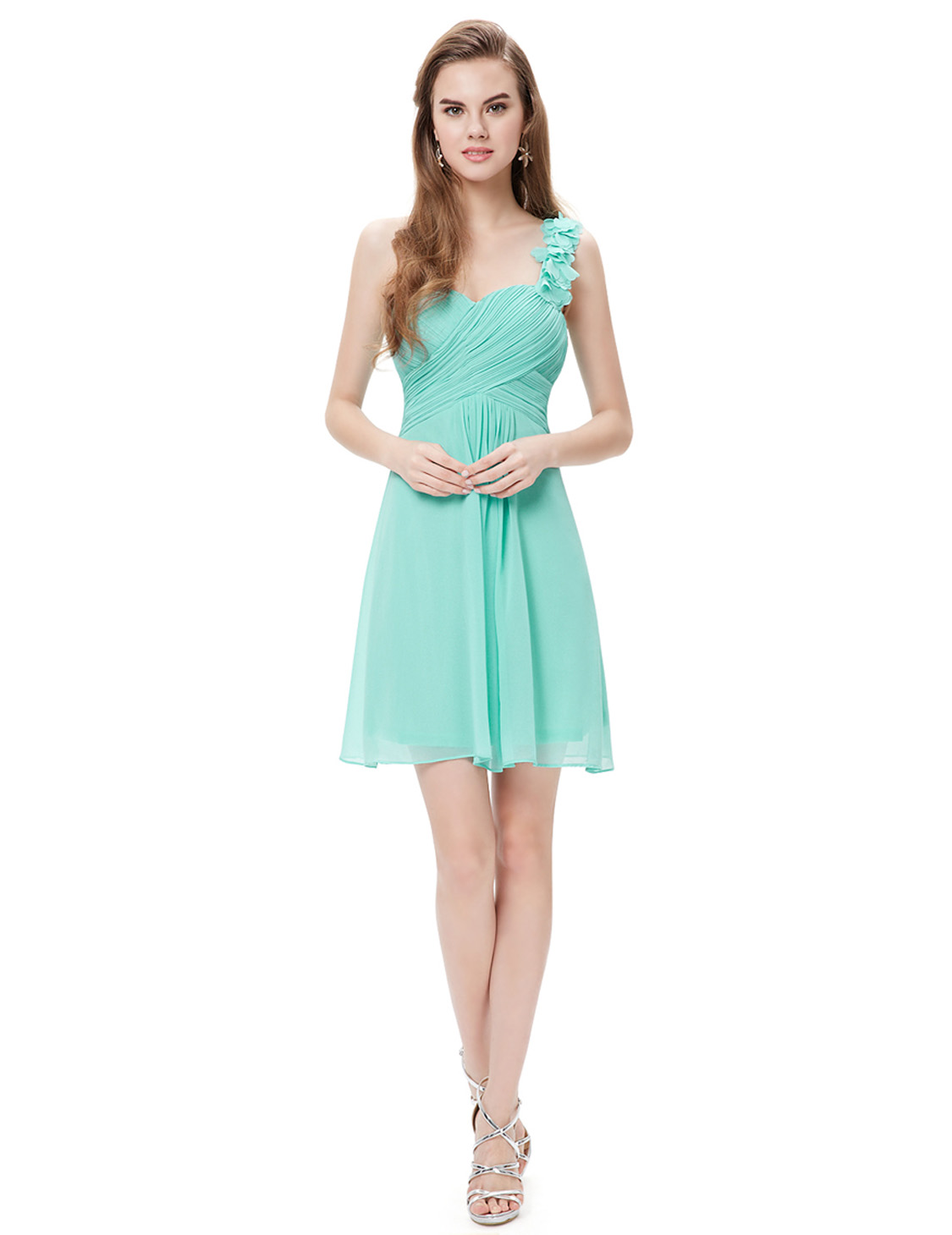 Ever-Pretty Short Chiffon A-line Bridesmaid Wedding Dress Homecoming ...
