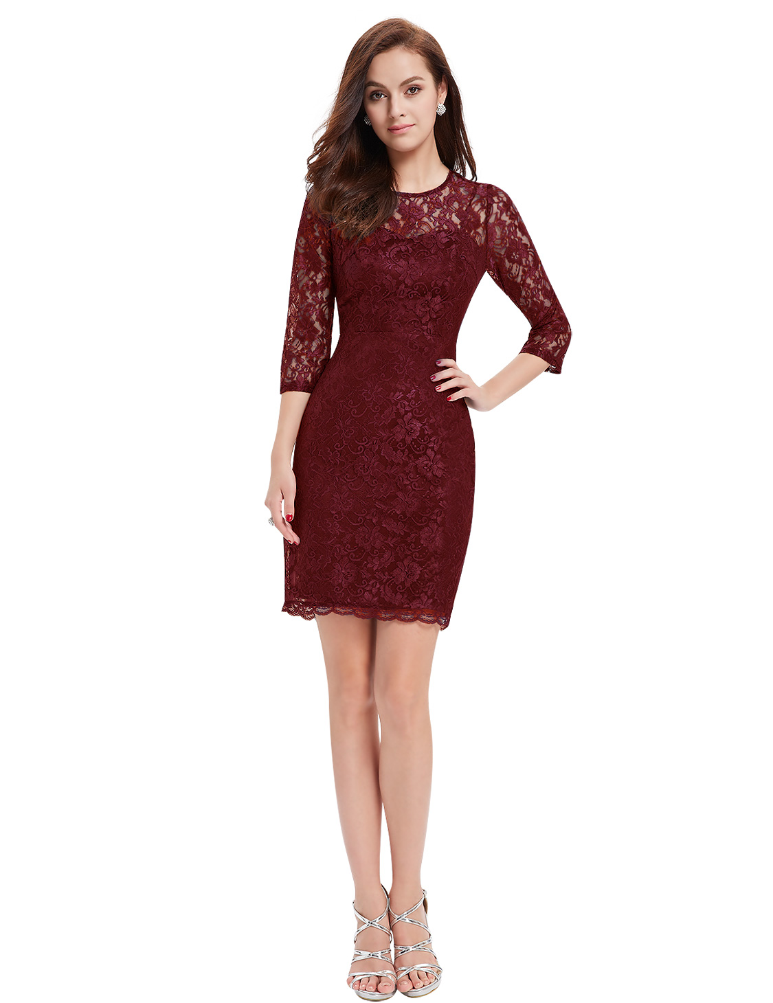 Ever-Pretty Lace Cocktail Dress Women Short Bodycon Evening Party ...