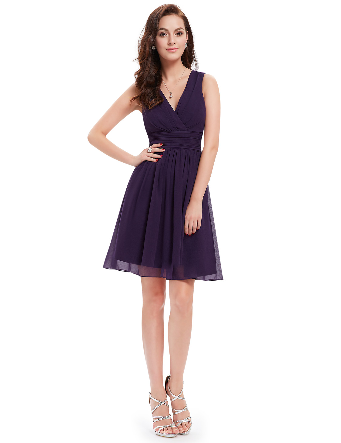 US Short Chiffon Homecoming Dress Bridesmaid Prom Dress Formal Evening 03989 | EBay