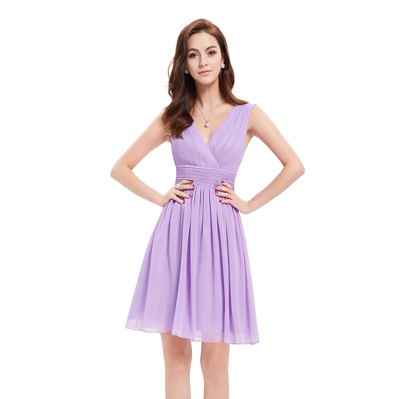 Short Bridesmaid Dress Chiffon V-Neck Cocktail Party Dresses 03989 ...