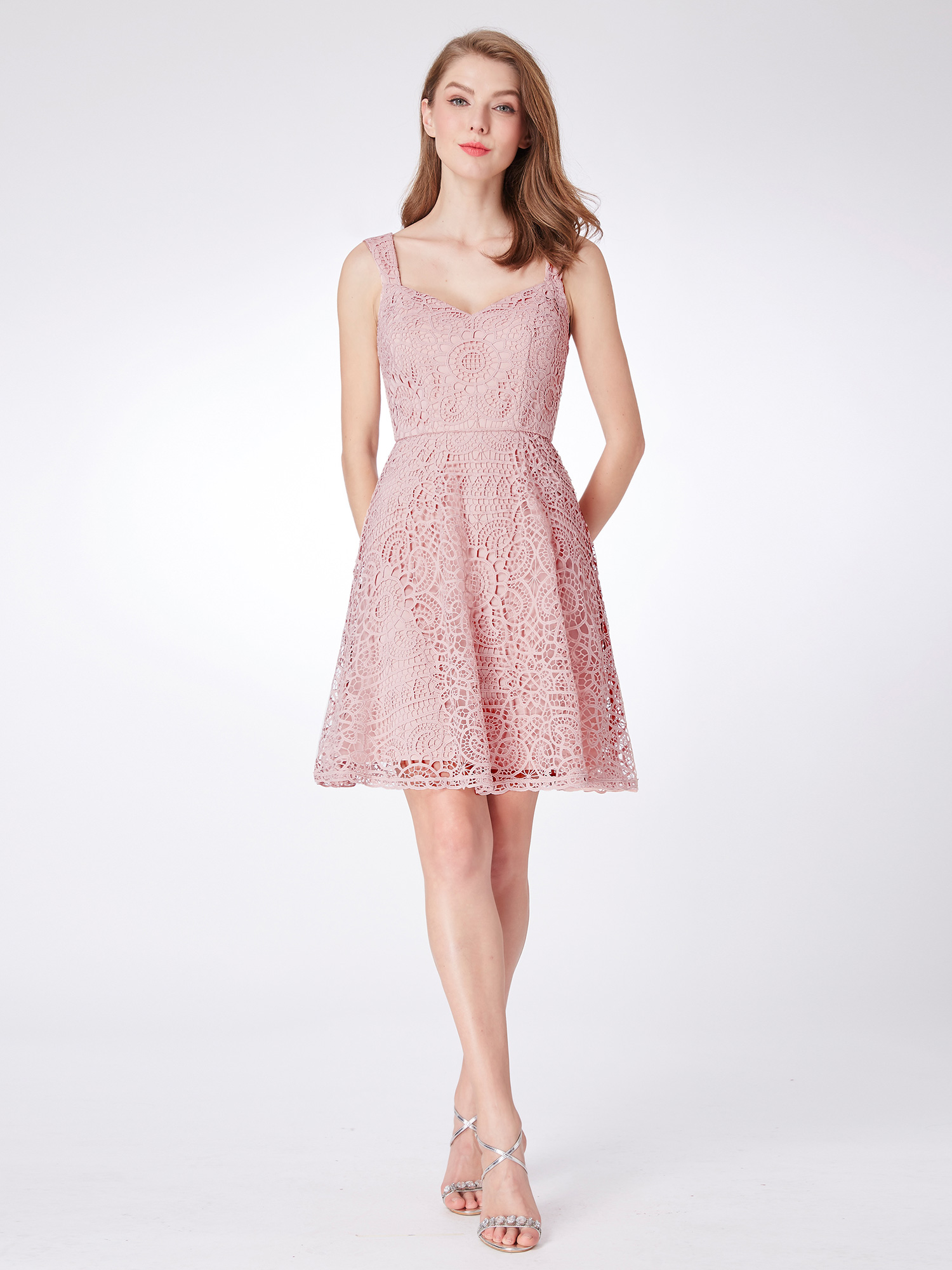 Ever-pretty-Lace-Pink-Evening-Wedding-Homecoming-Semi-Formal-Ball-Dress-04038