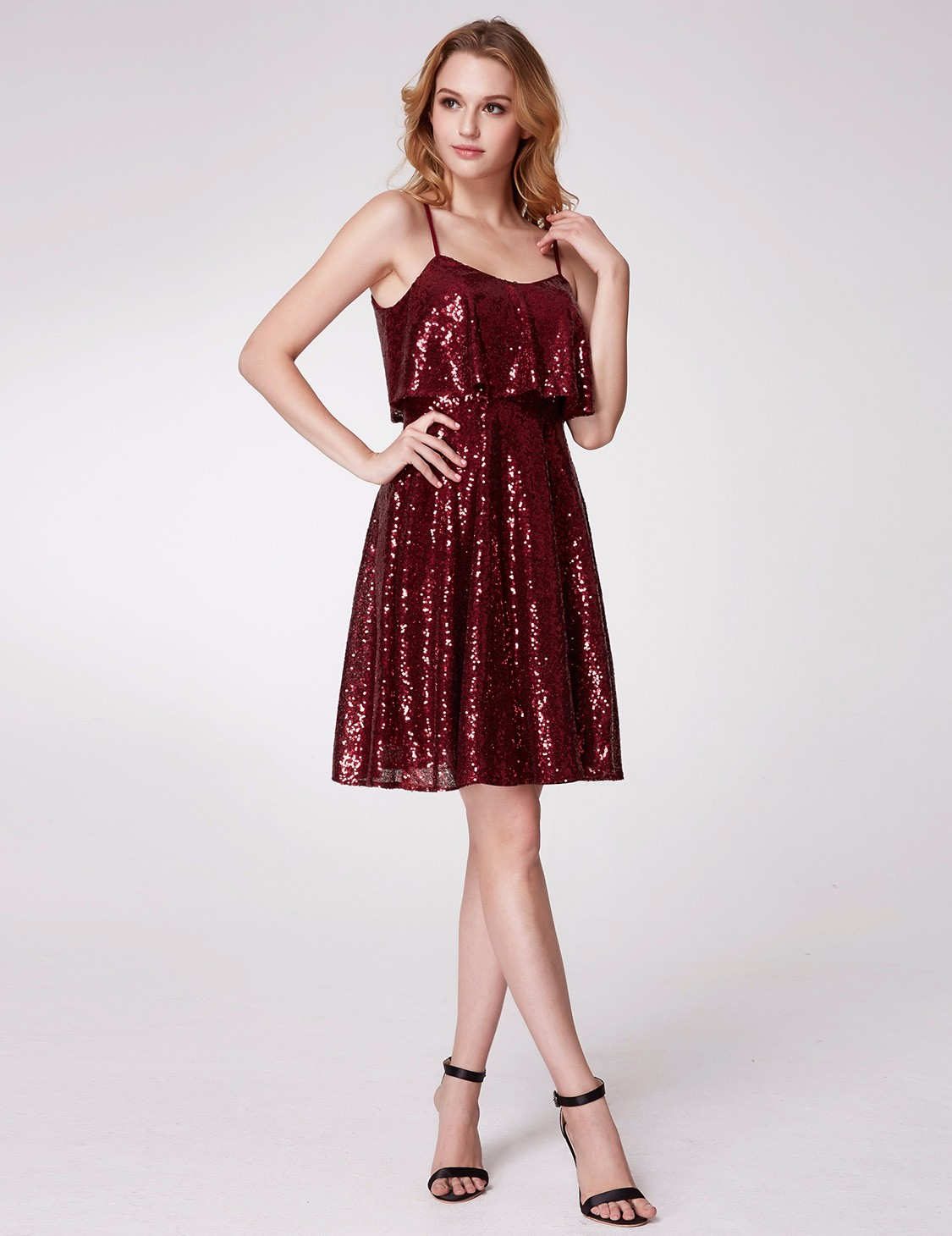 Ever-Pretty UK Short Sequins Homecoming Prom Gown Glitter Cocktail ...