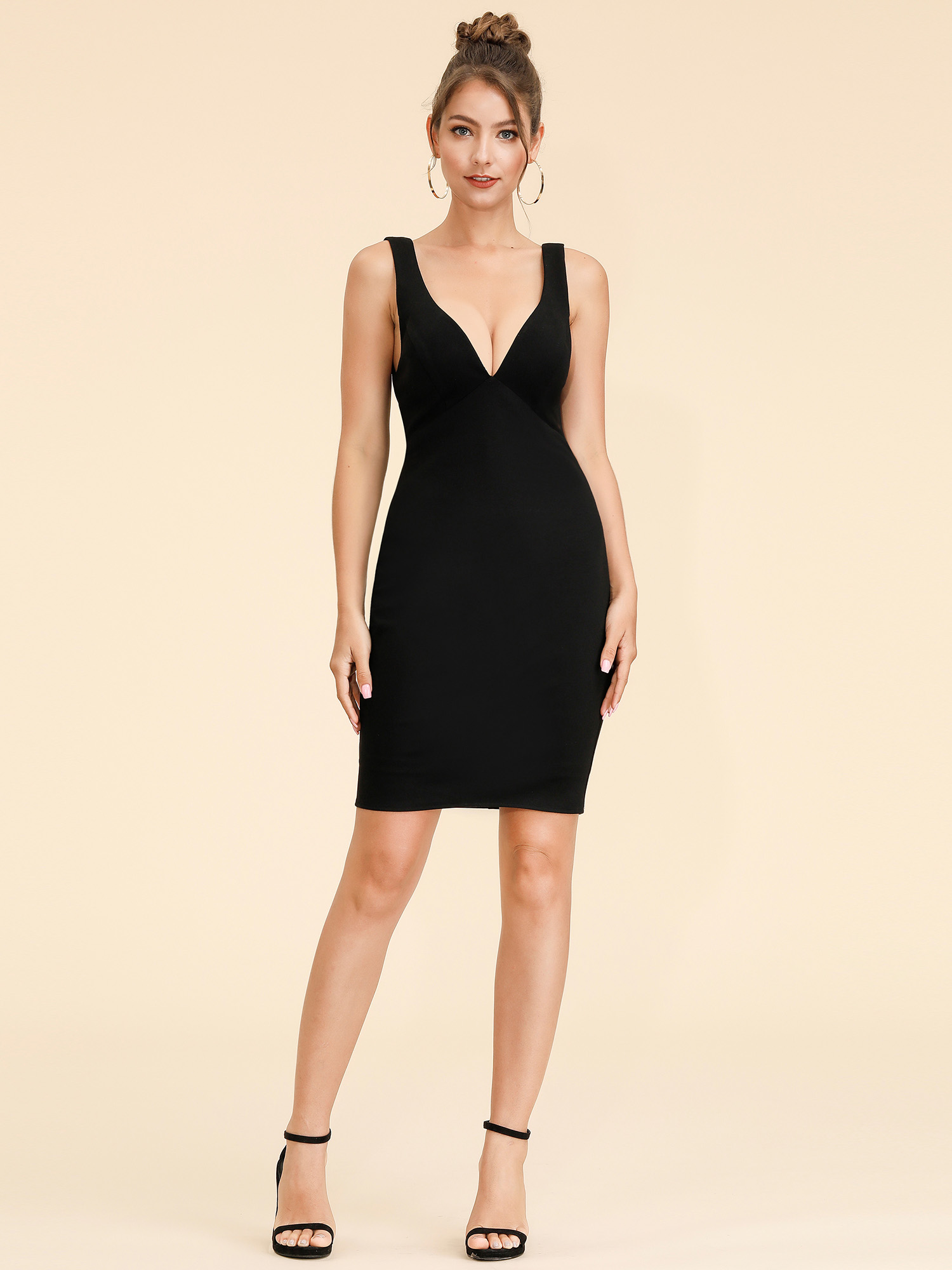 879c8d2a2707 Ever-Pretty Women s Sexy Short V Neck Bodycon Cocktail Party Night Club  Dress 05851