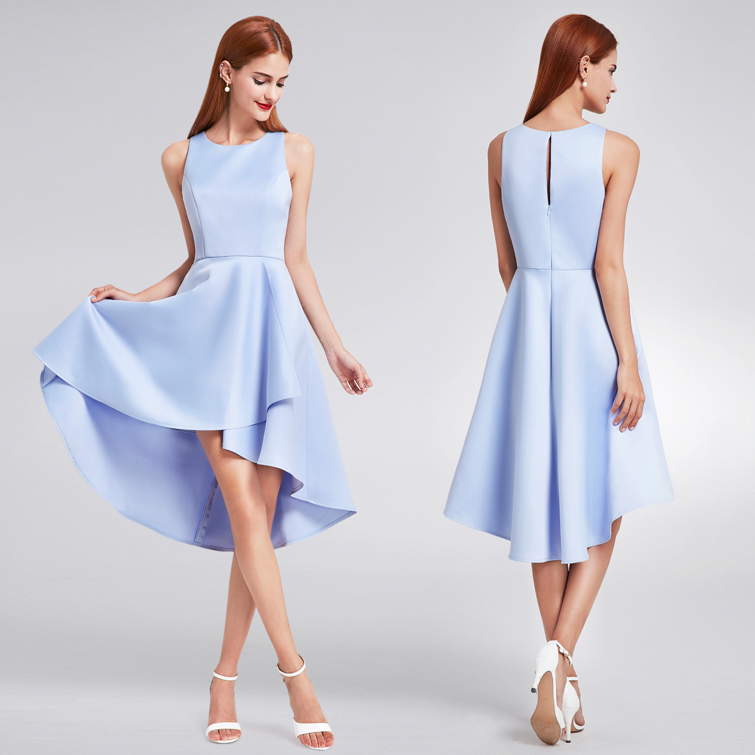 Ever-Pretty High Low Bridesmaid Dresses Sleeveless Party Wedding ...
