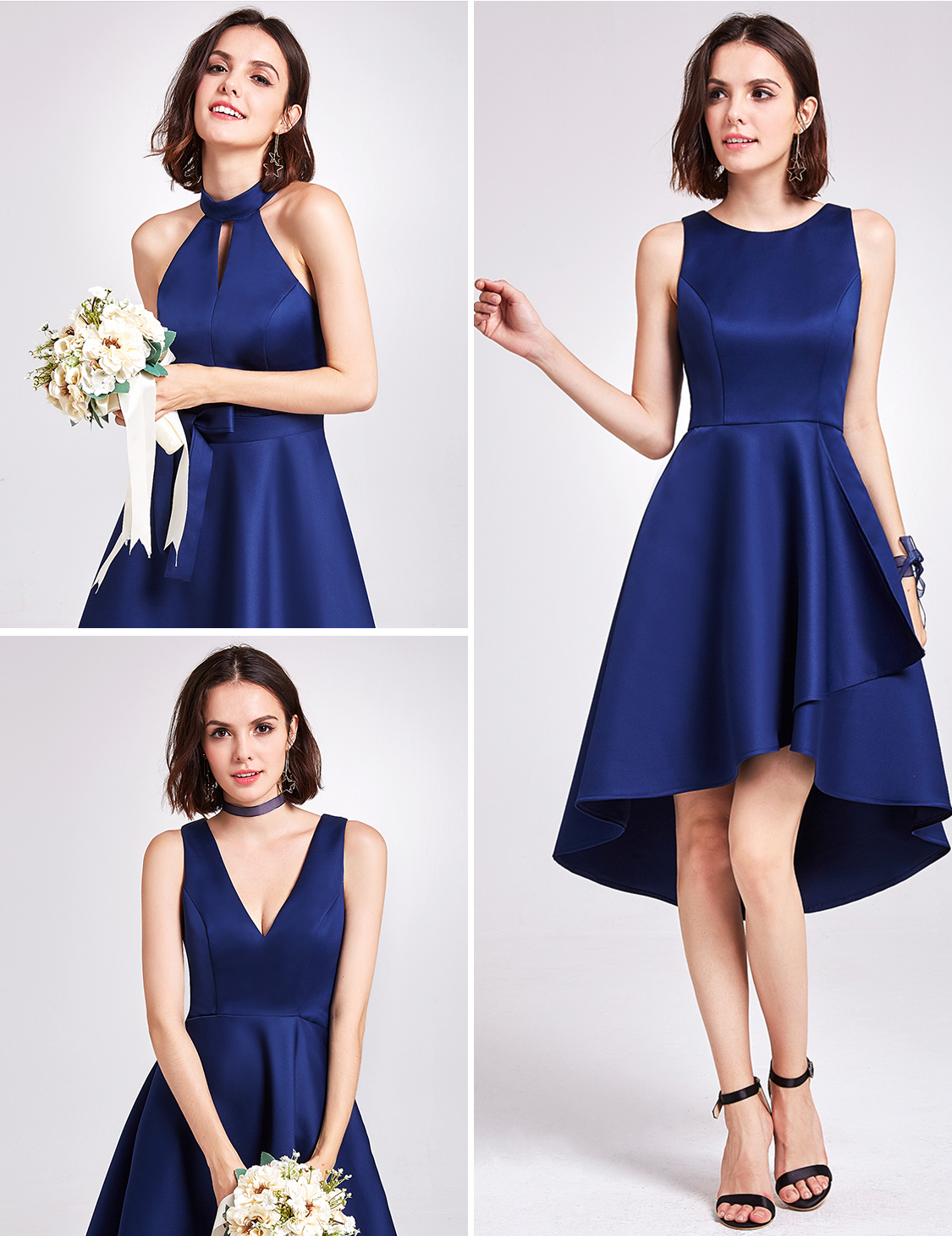 Bridesmaid Dress Sleeveless Homecoming